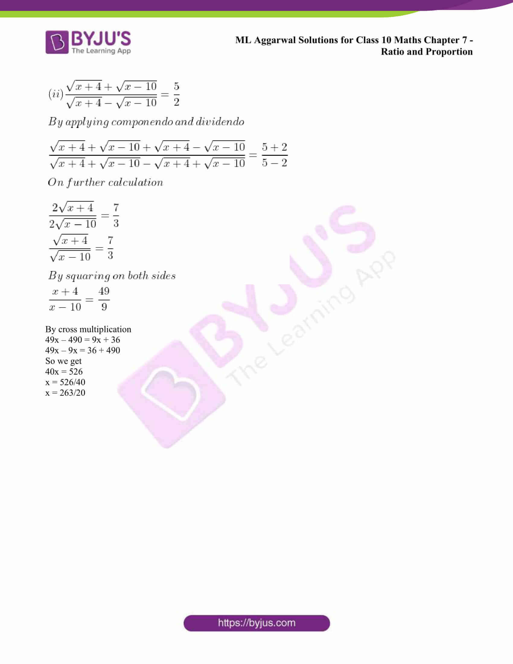 ml aggarwal solutions class 10 maths chapter 7 55