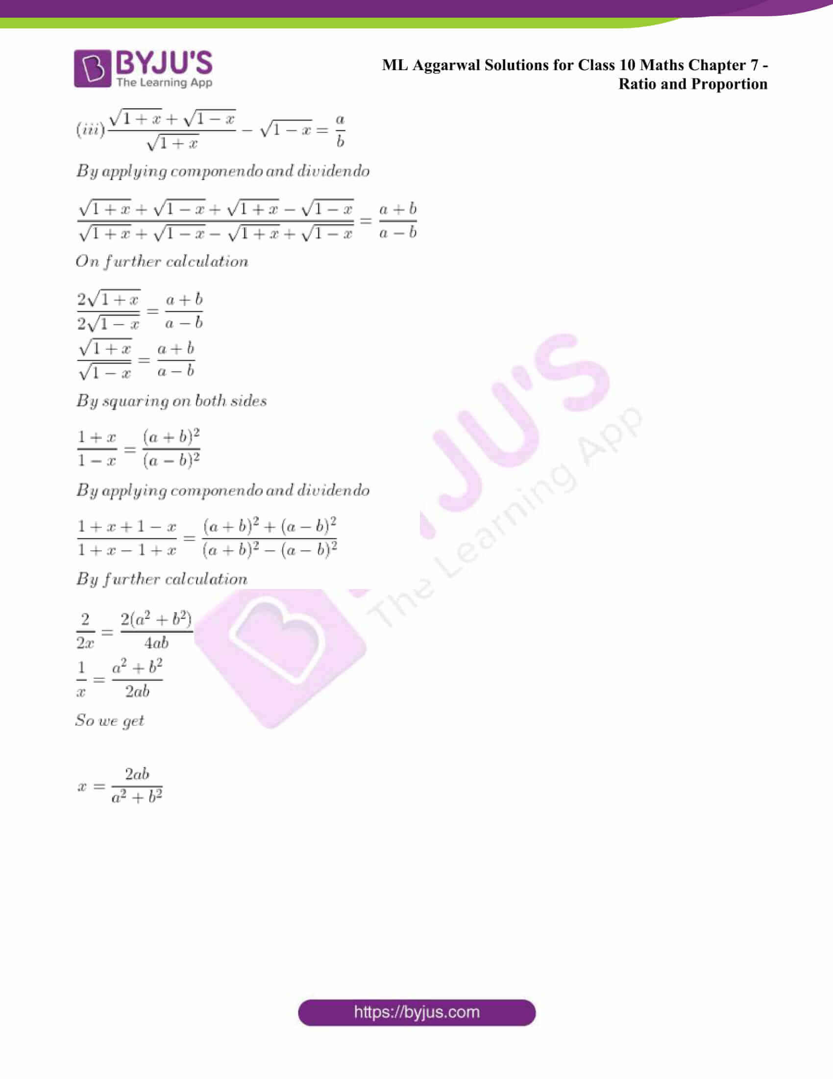 ml aggarwal solutions class 10 maths chapter 7 56