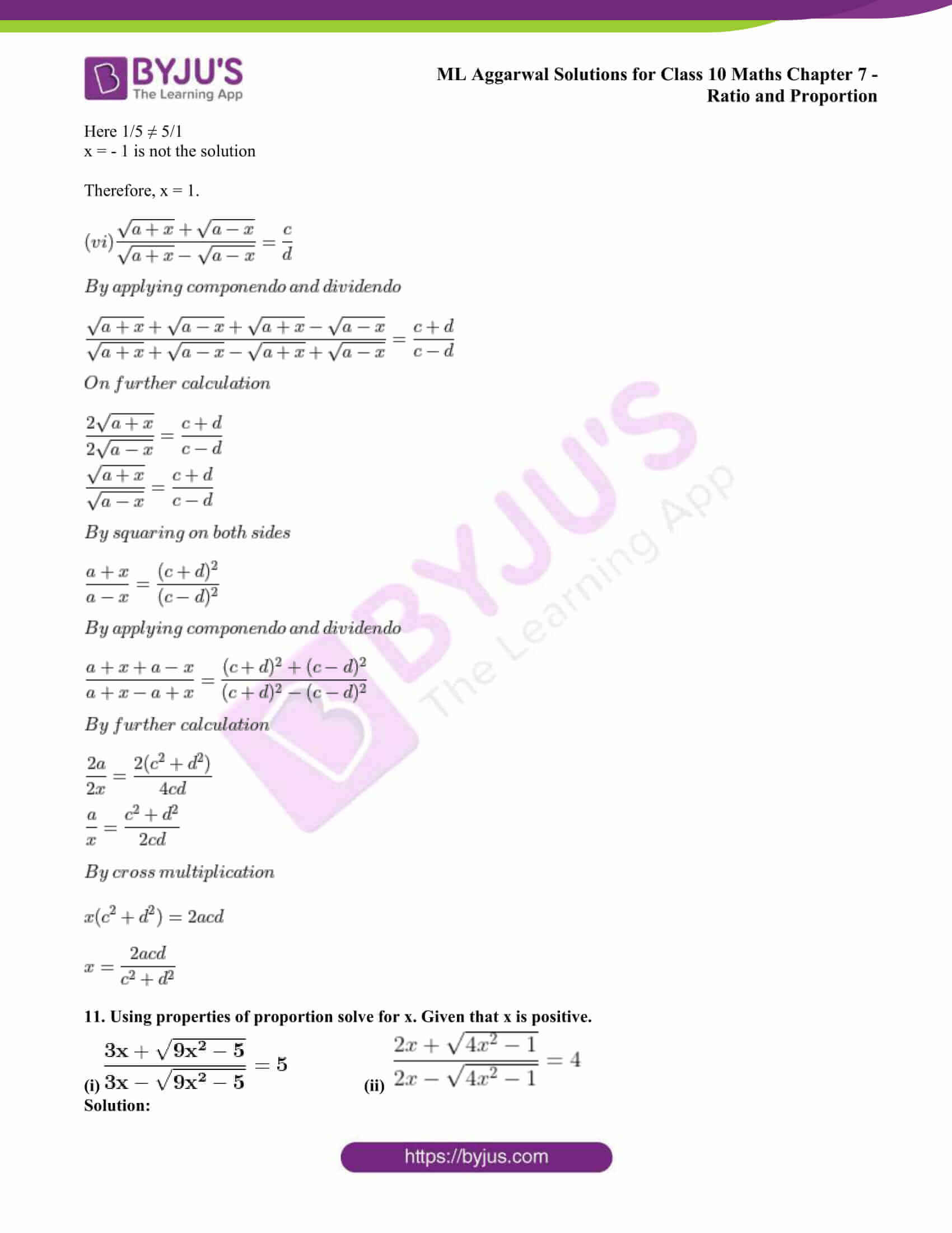ml aggarwal solutions class 10 maths chapter 7 59