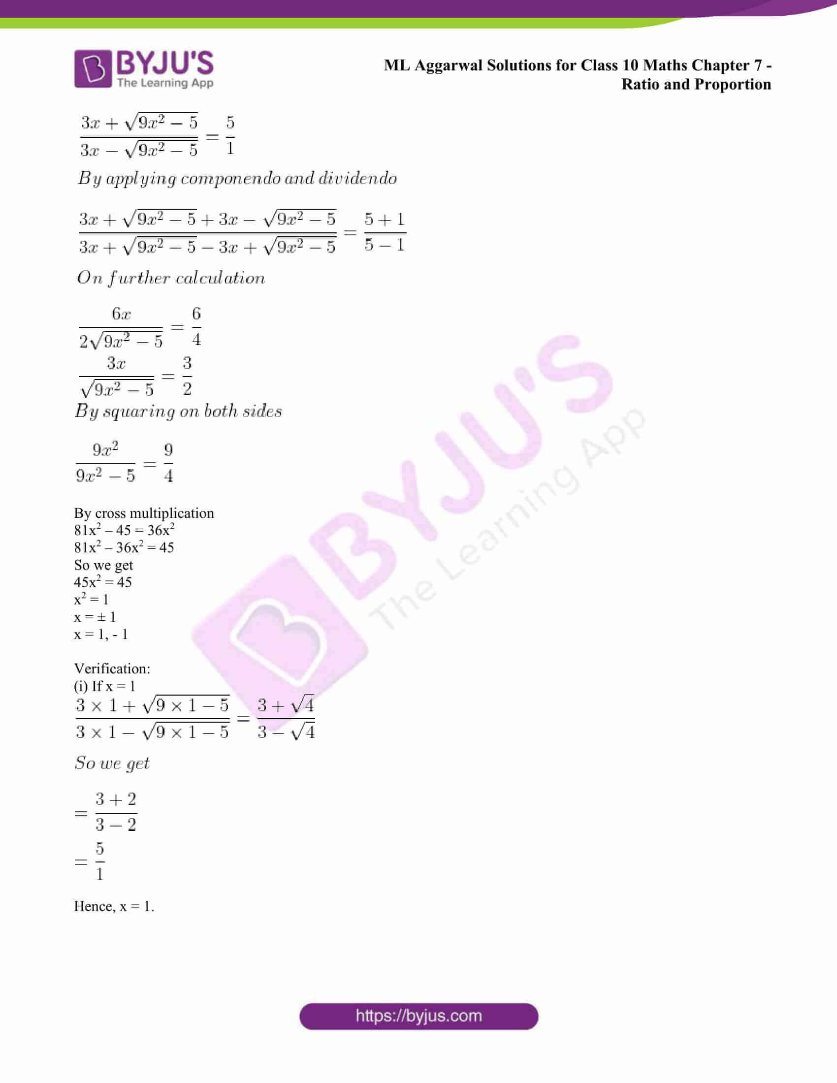 ml aggarwal solutions class 10 maths chapter 7 60