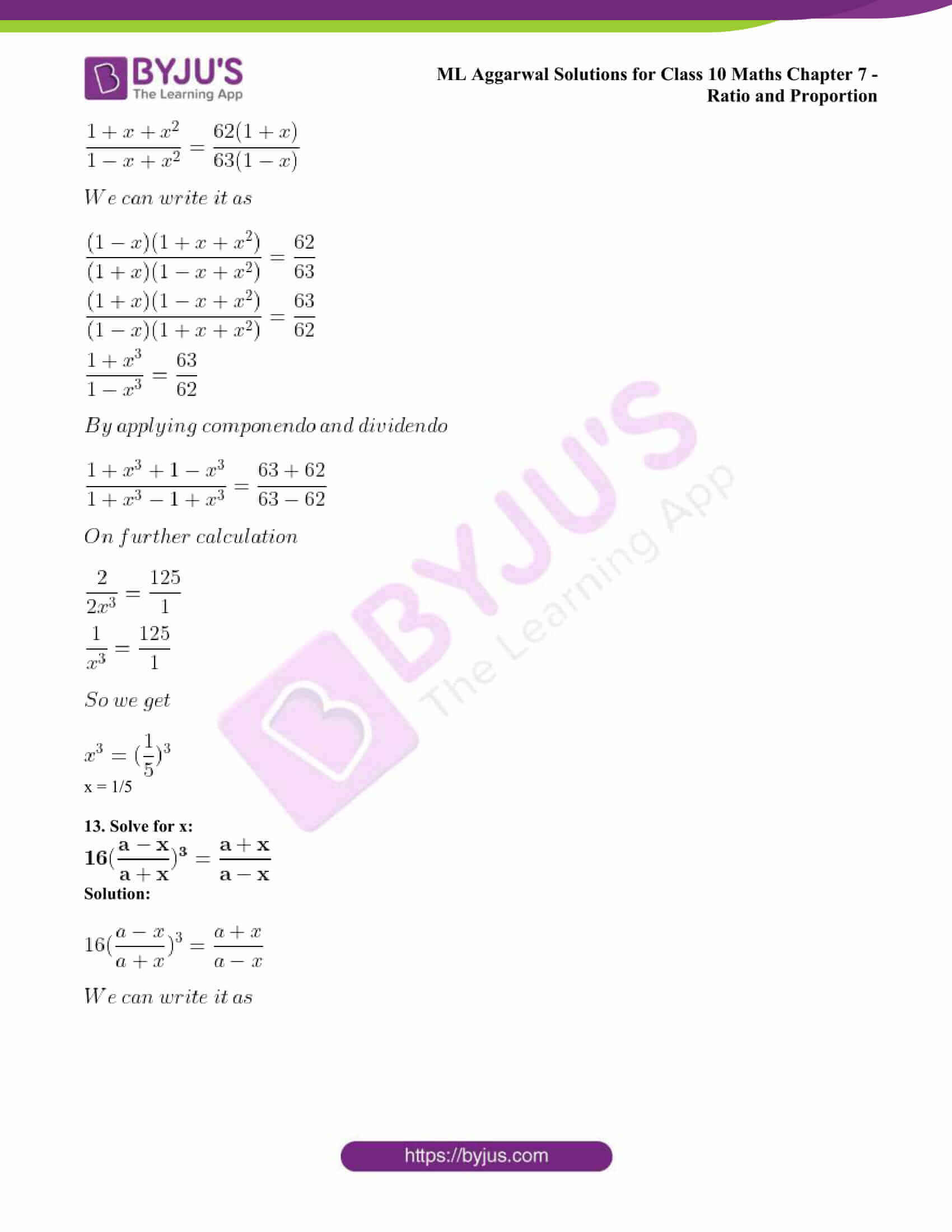 ml aggarwal solutions class 10 maths chapter 7 62
