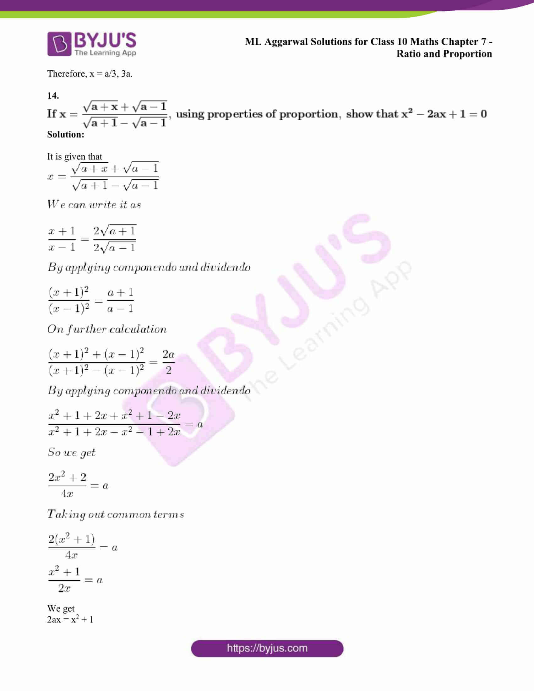 ml aggarwal solutions class 10 maths chapter 7 64