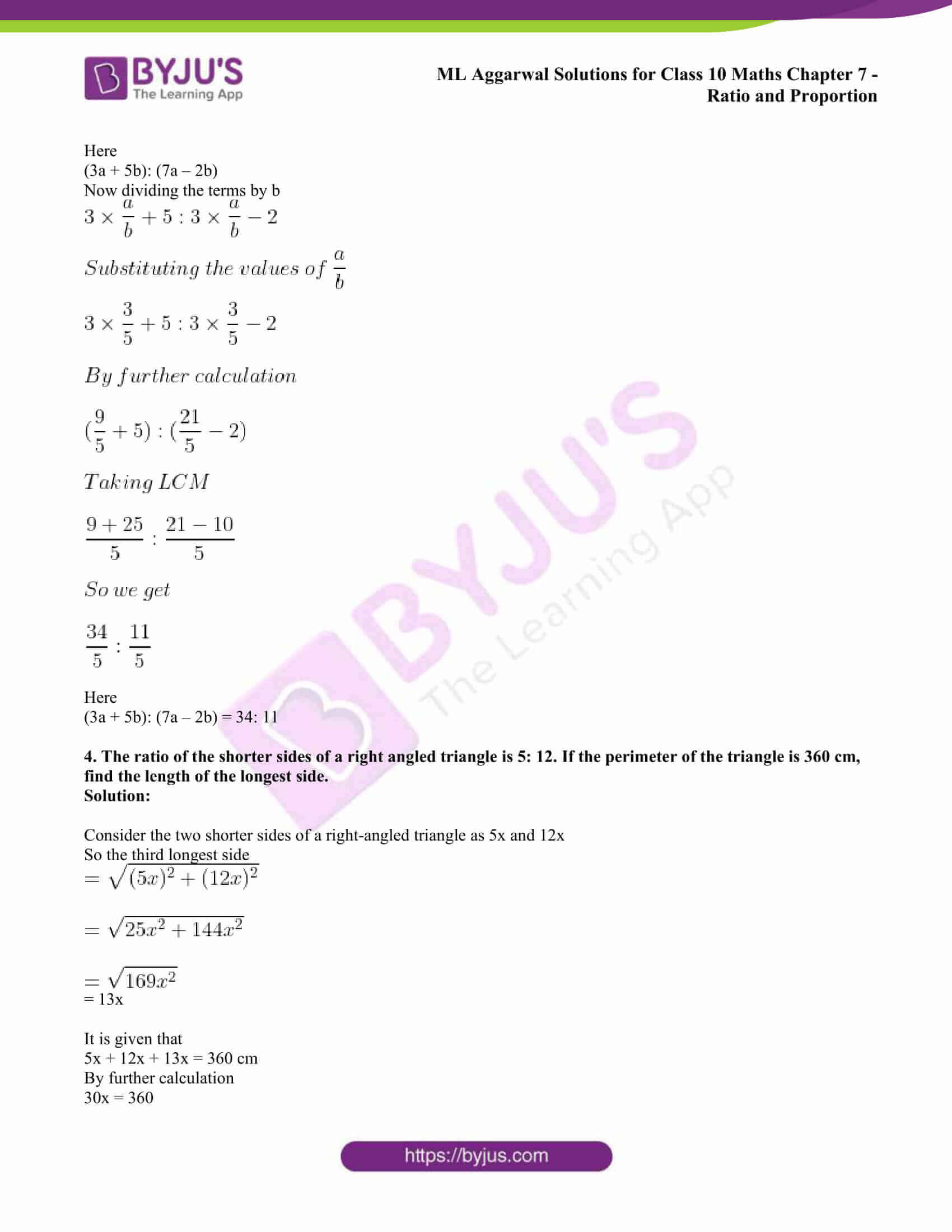 ml aggarwal solutions class 10 maths chapter 7 71