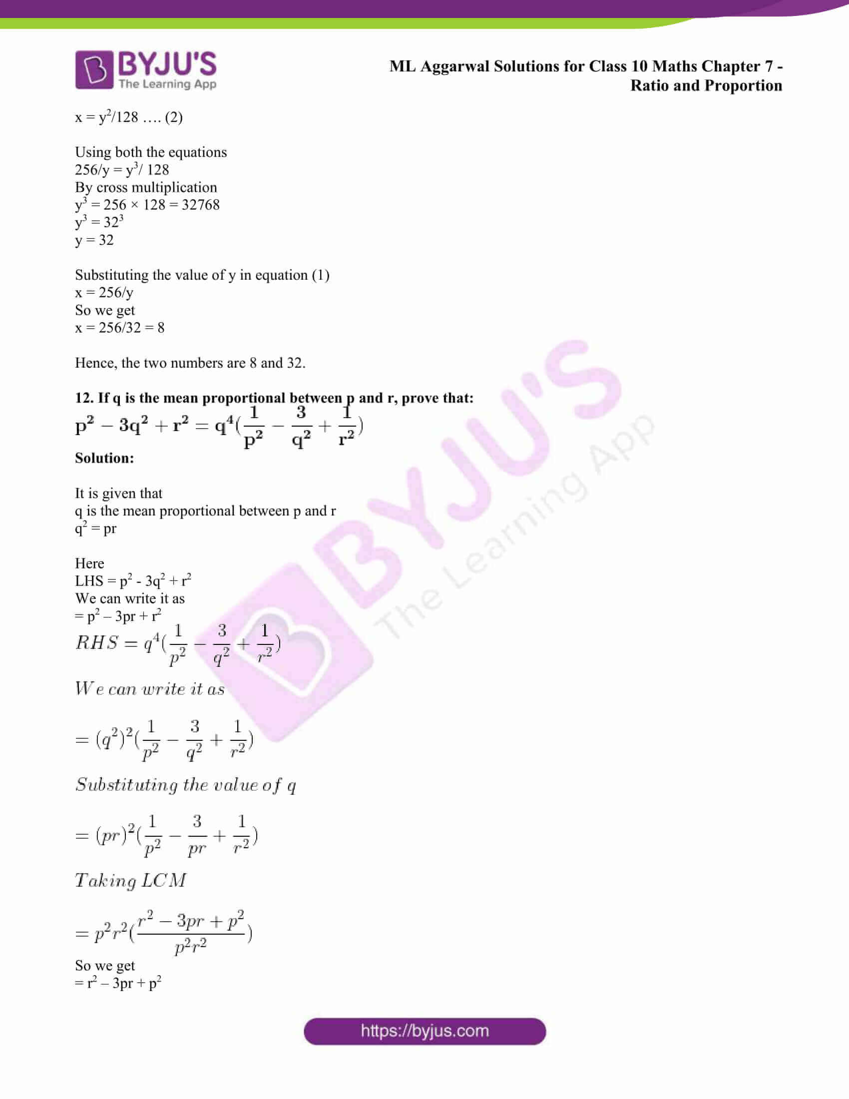 ml aggarwal solutions class 10 maths chapter 7 75