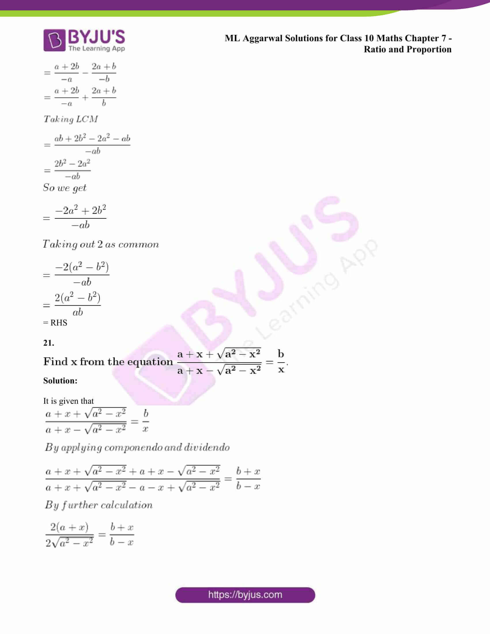 ml aggarwal solutions class 10 maths chapter 7 85