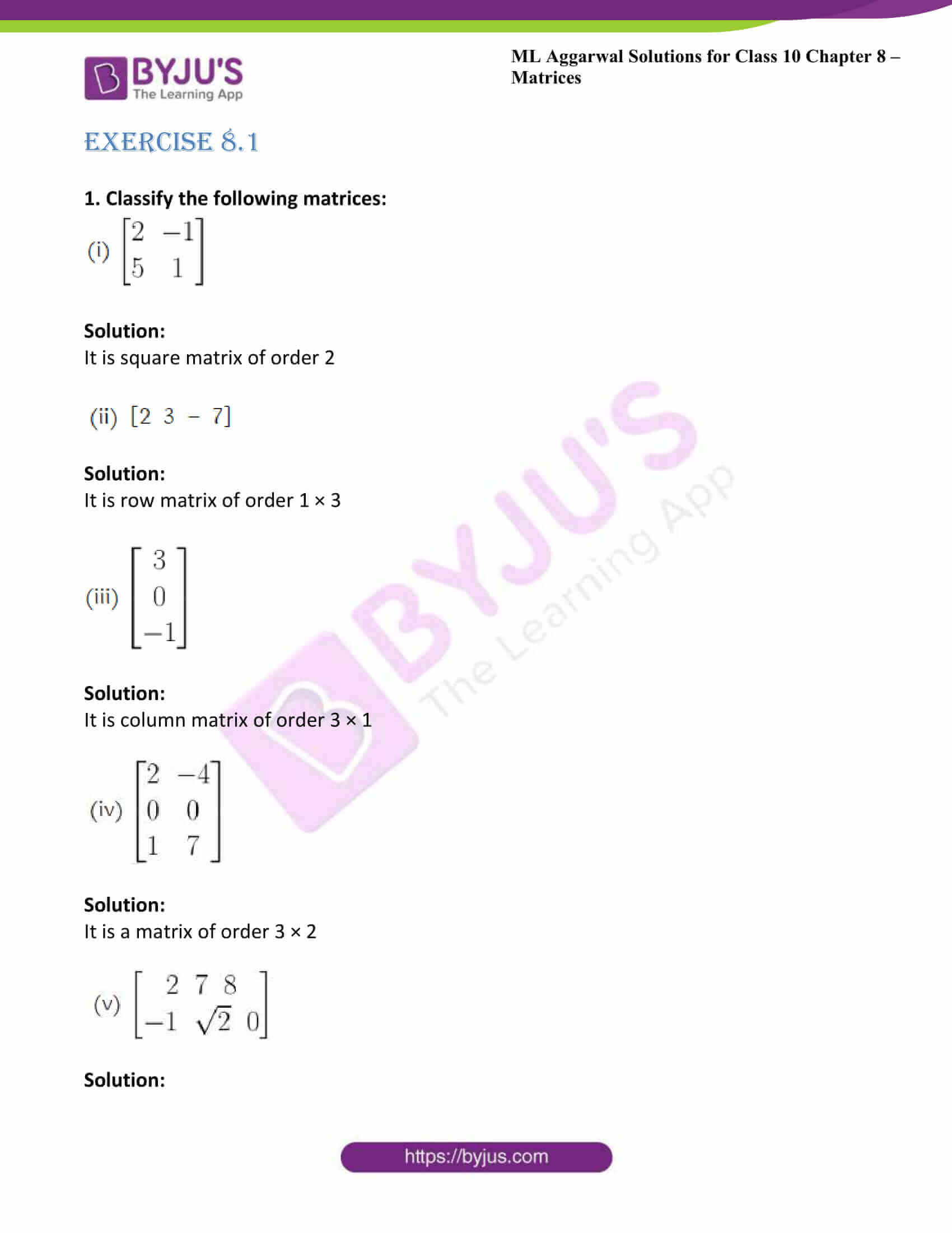 ml aggarwal solutions class 10 maths chapter 8 01