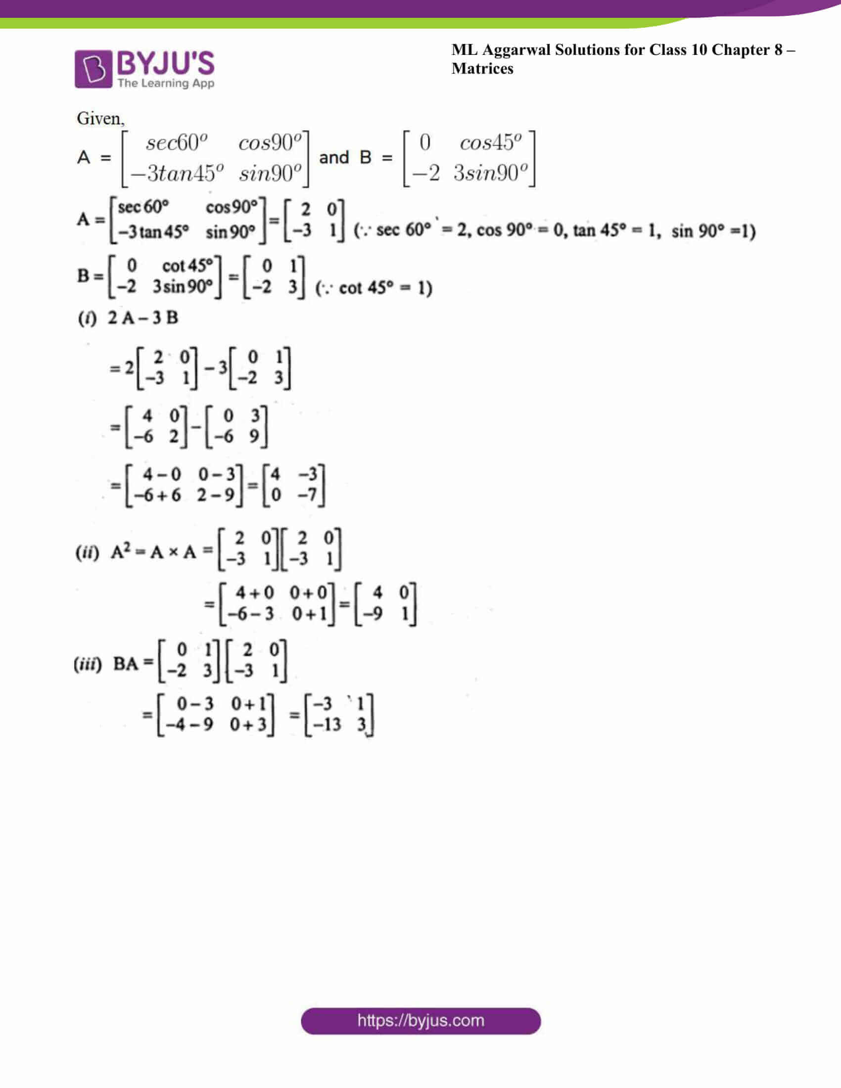 ml aggarwal solutions class 10 maths chapter 8 42