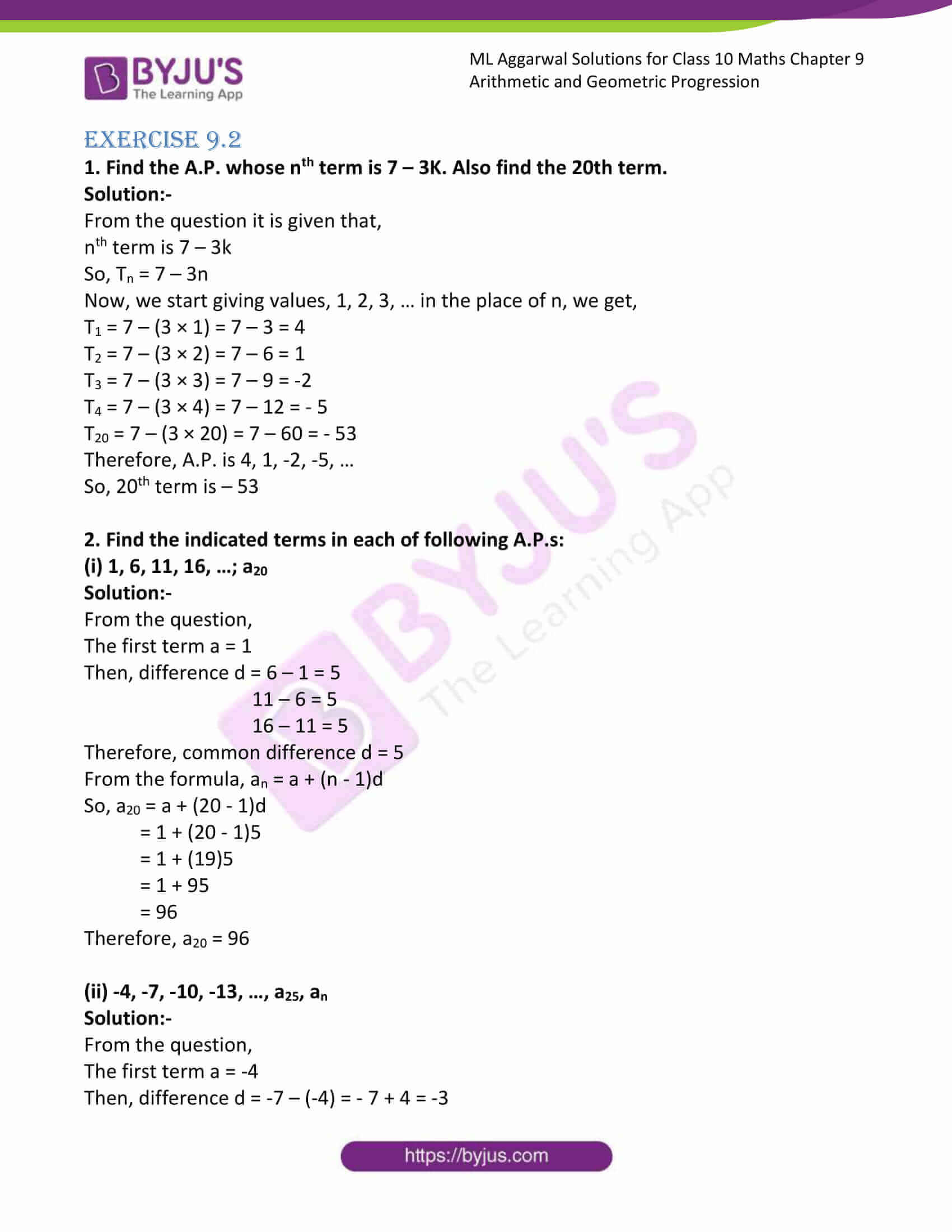 ml aggarwal solutions class 10 maths chapter 9 05