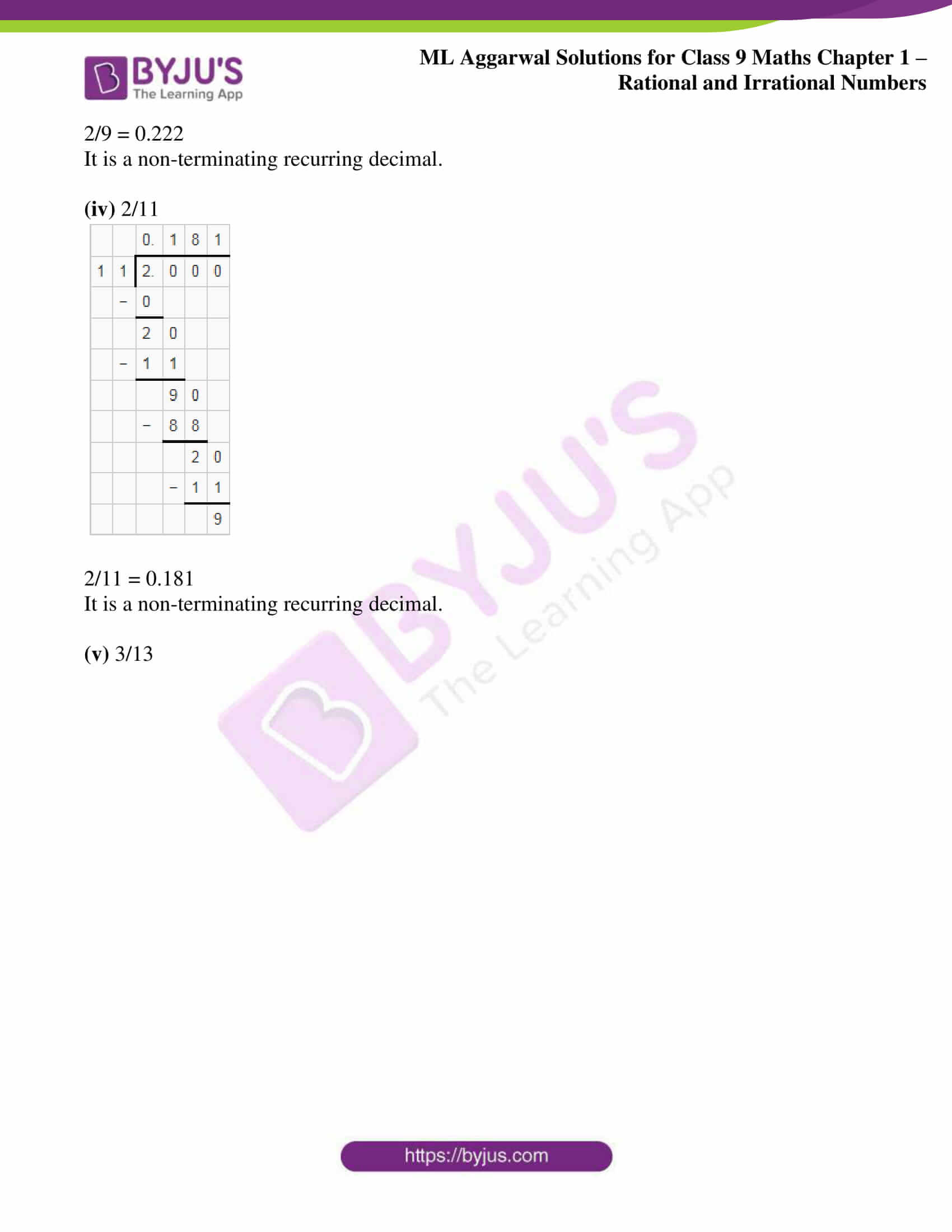 ml aggarwal solutions for class 9 maths chapter 1 18