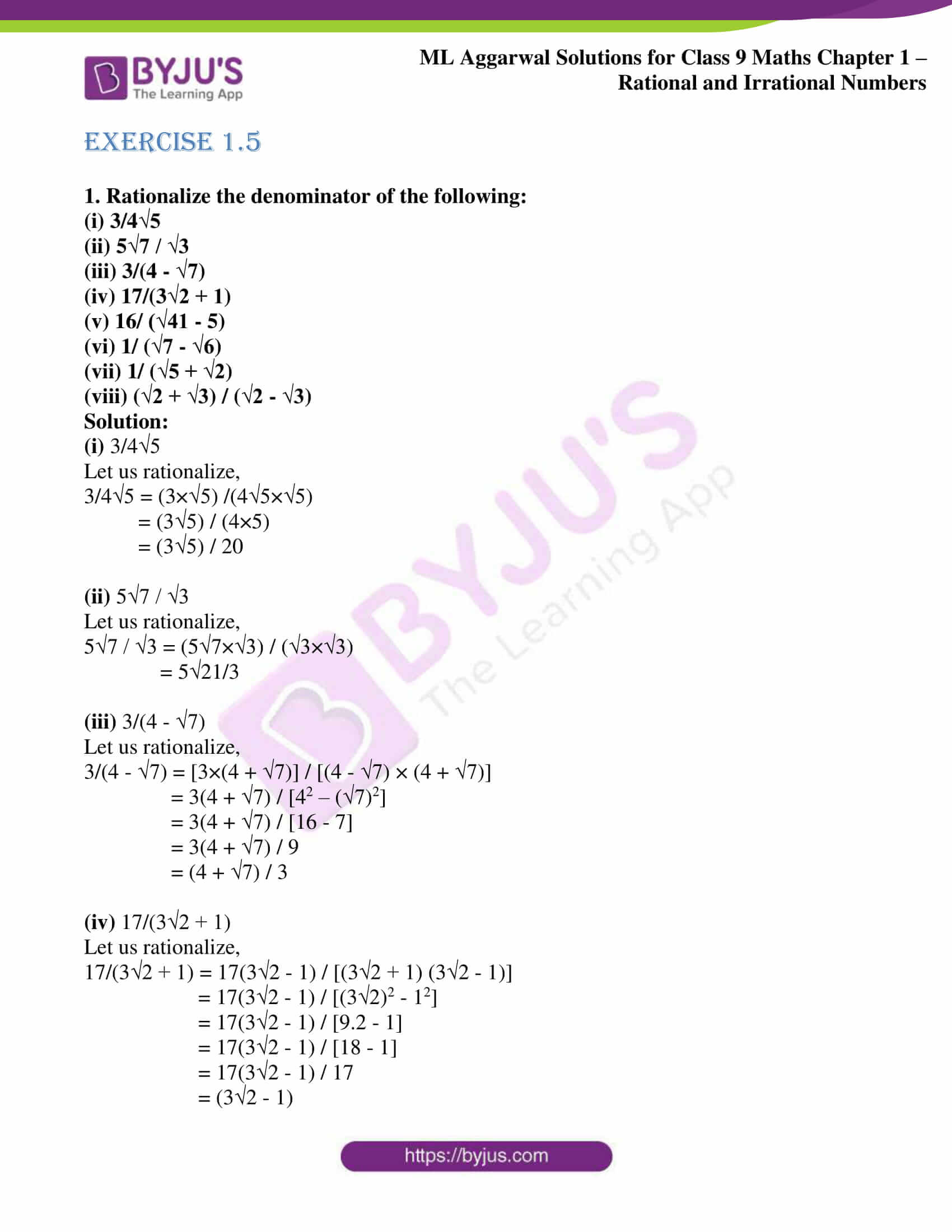 ml aggarwal solutions for class 9 maths chapter 1 49