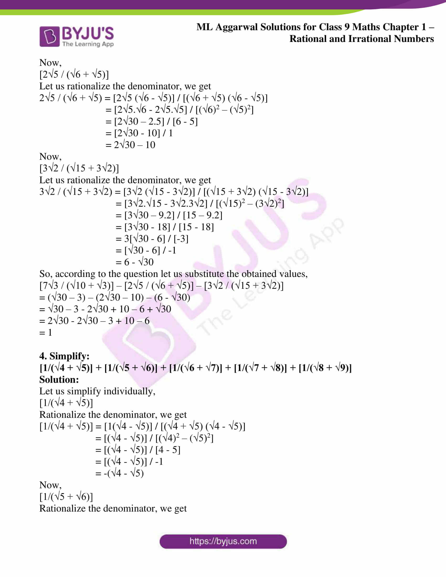 ml aggarwal solutions for class 9 maths chapter 1 52