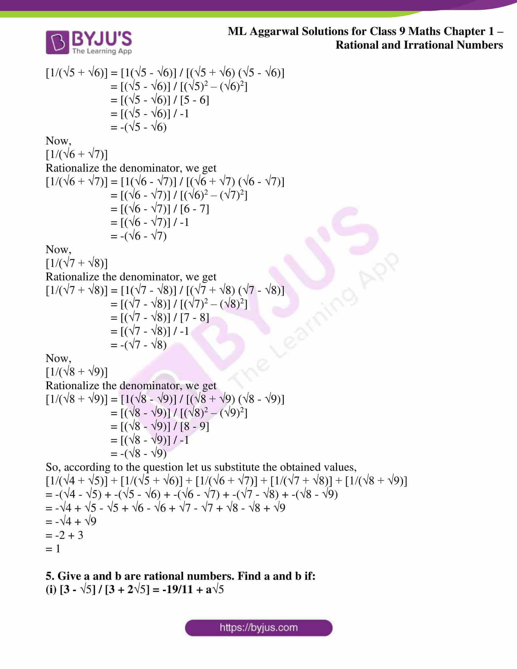 ml aggarwal solutions for class 9 maths chapter 1 53