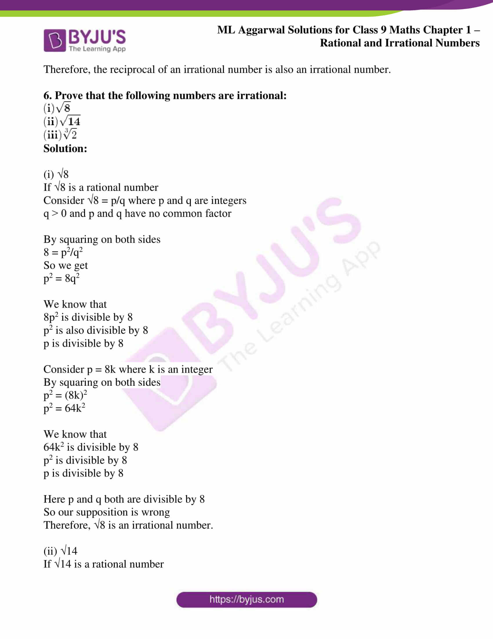 ml aggarwal solutions for class 9 maths chapter 1 64