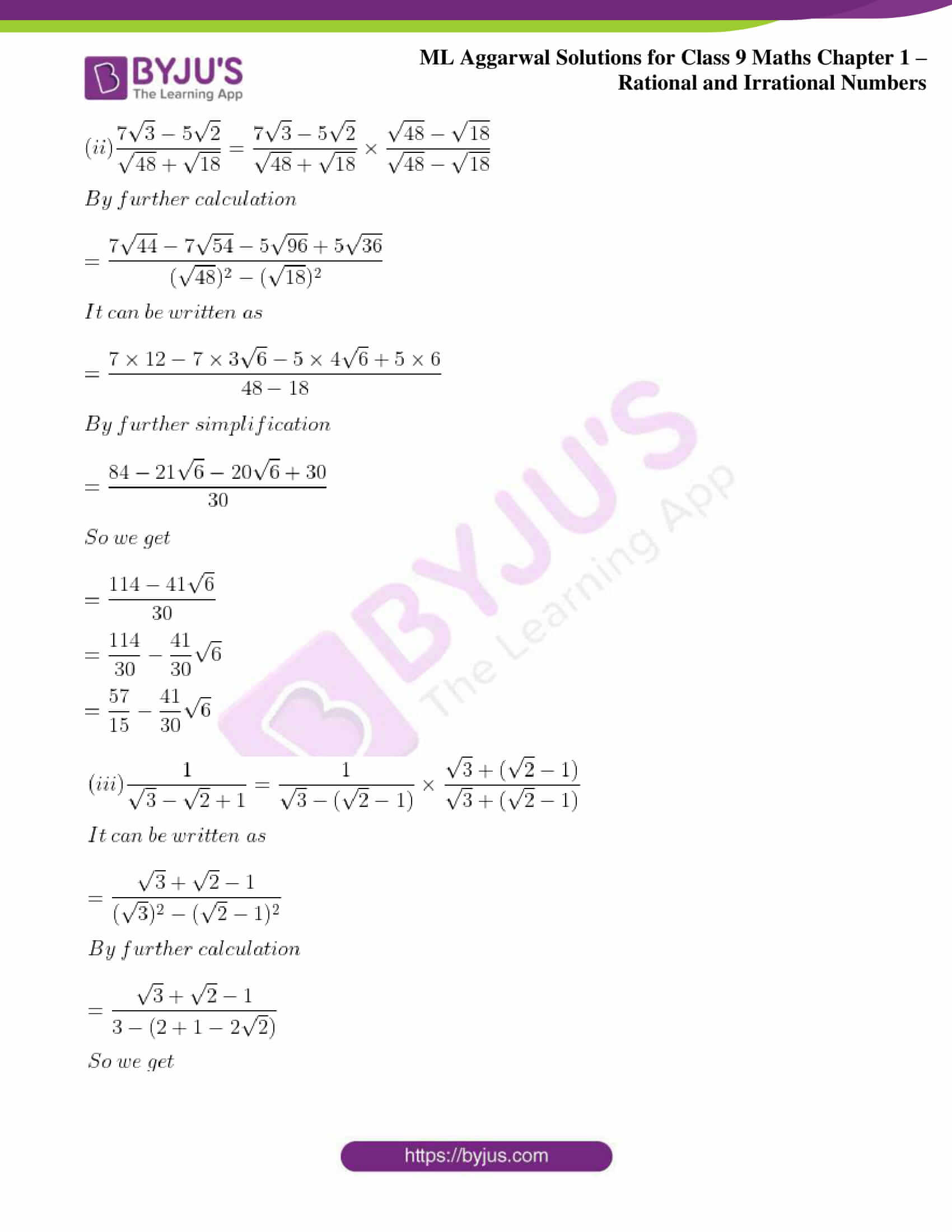 ml aggarwal solutions for class 9 maths chapter 1 71