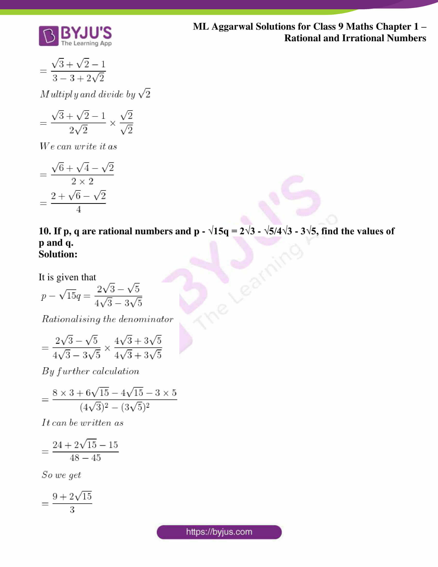 ml aggarwal solutions for class 9 maths chapter 1 72