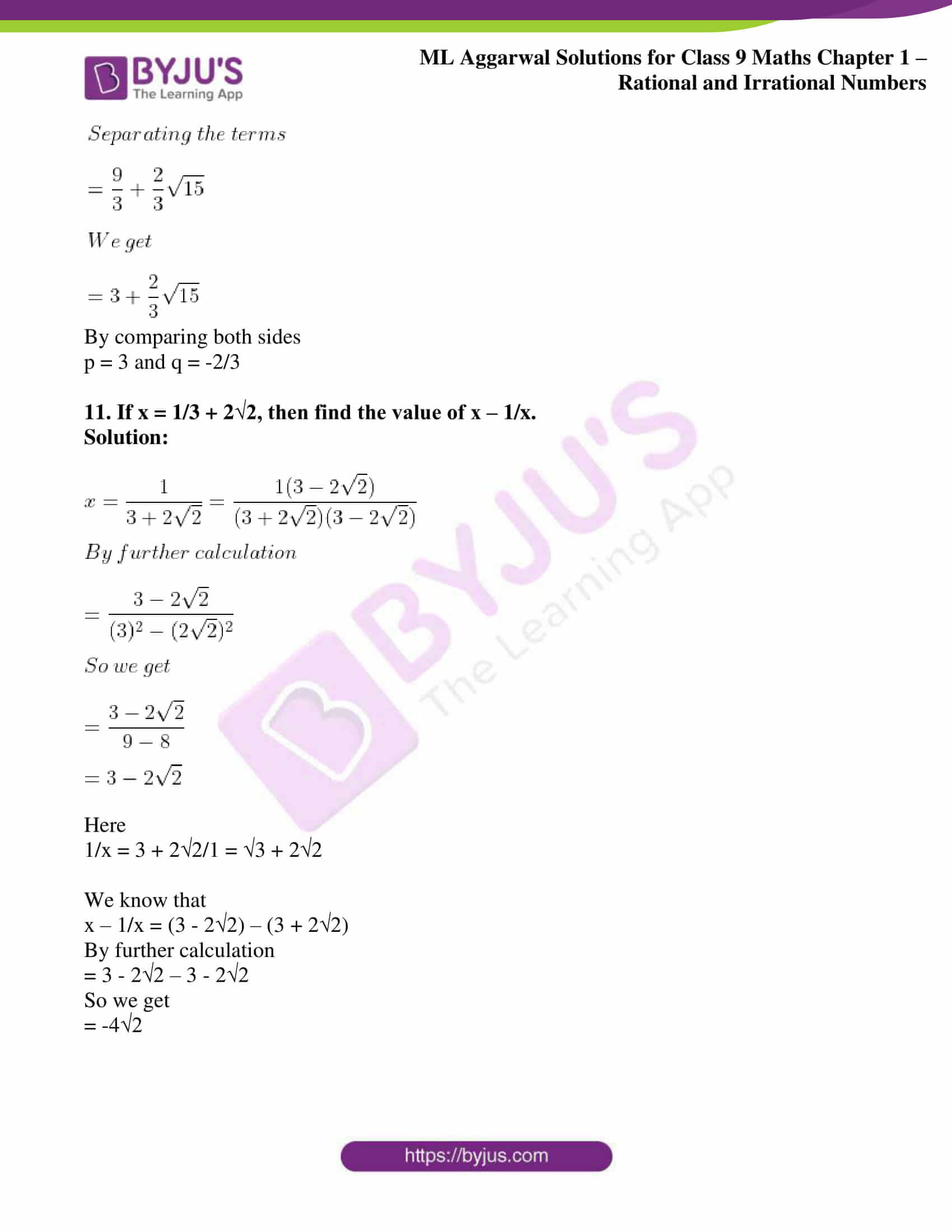 ml aggarwal solutions for class 9 maths chapter 1 73