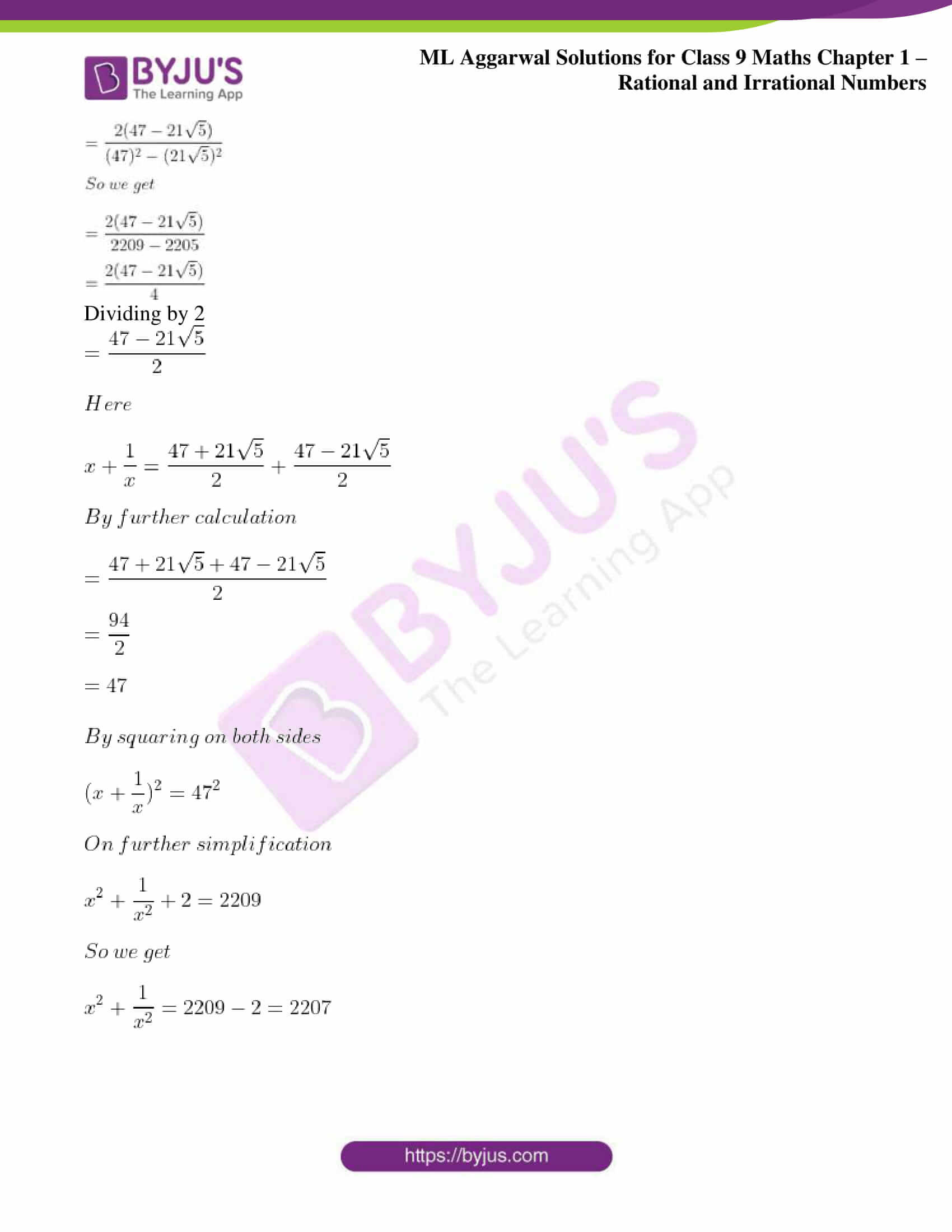 ml aggarwal solutions for class 9 maths chapter 1 75