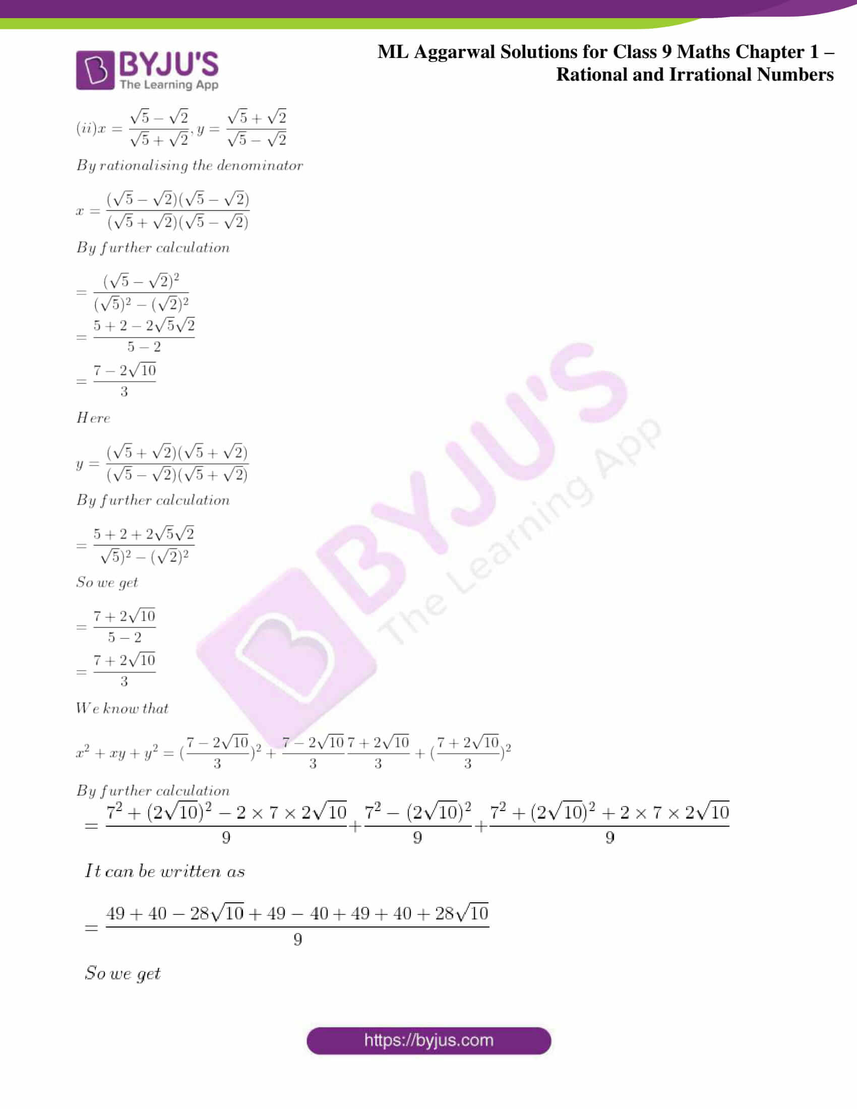 ml aggarwal solutions for class 9 maths chapter 1 76