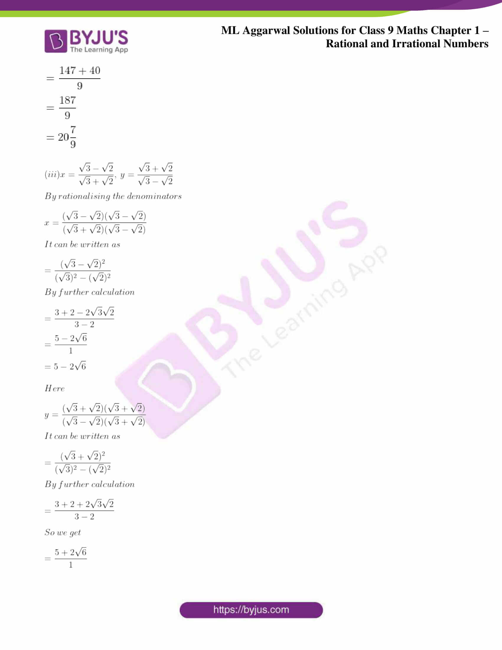 ml aggarwal solutions for class 9 maths chapter 1 77