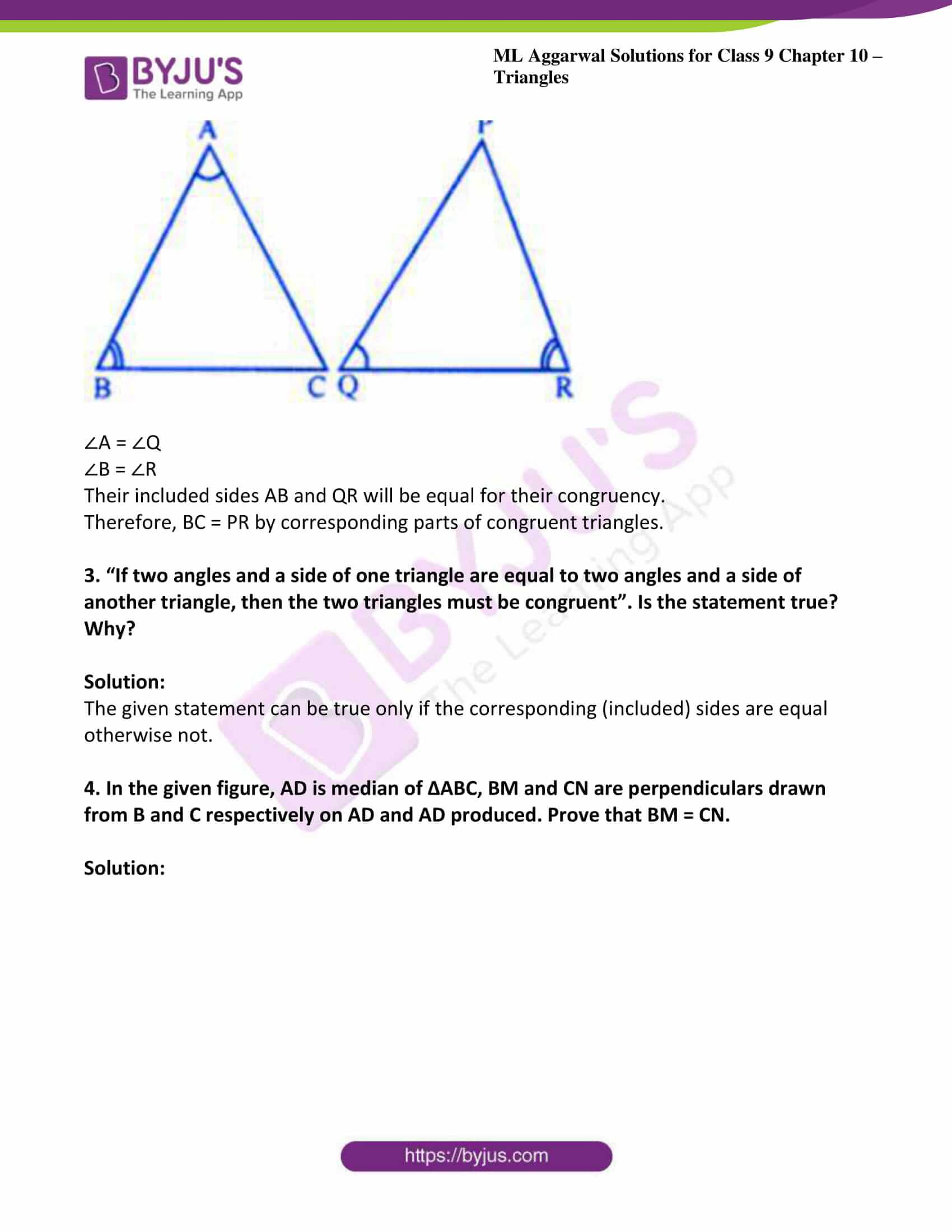 ml aggarwal solutions for class 9 maths chapter 10 10