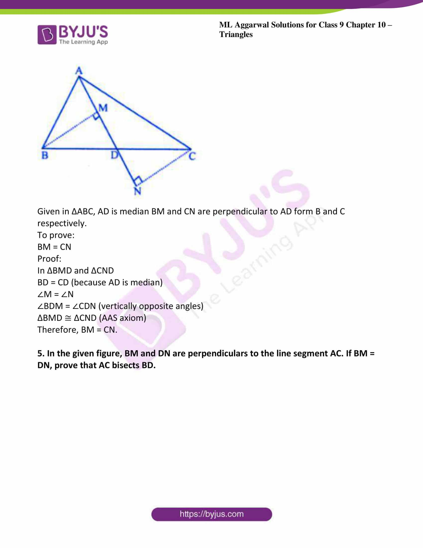 ml aggarwal solutions for class 9 maths chapter 10 11