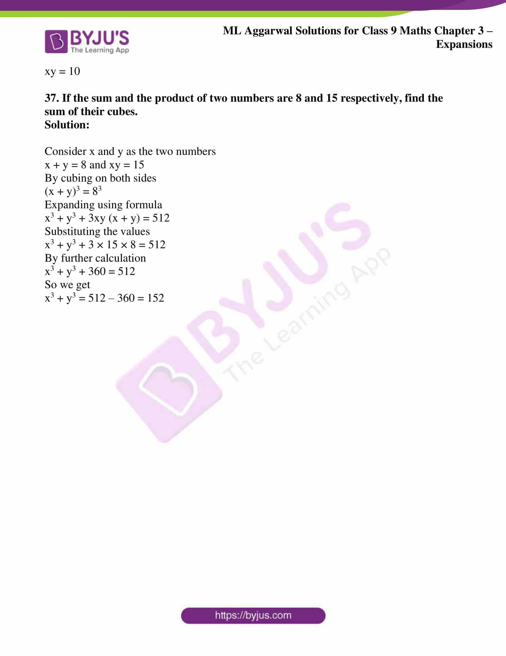 ml aggarwal solutions for class 9 maths chapter 3 38