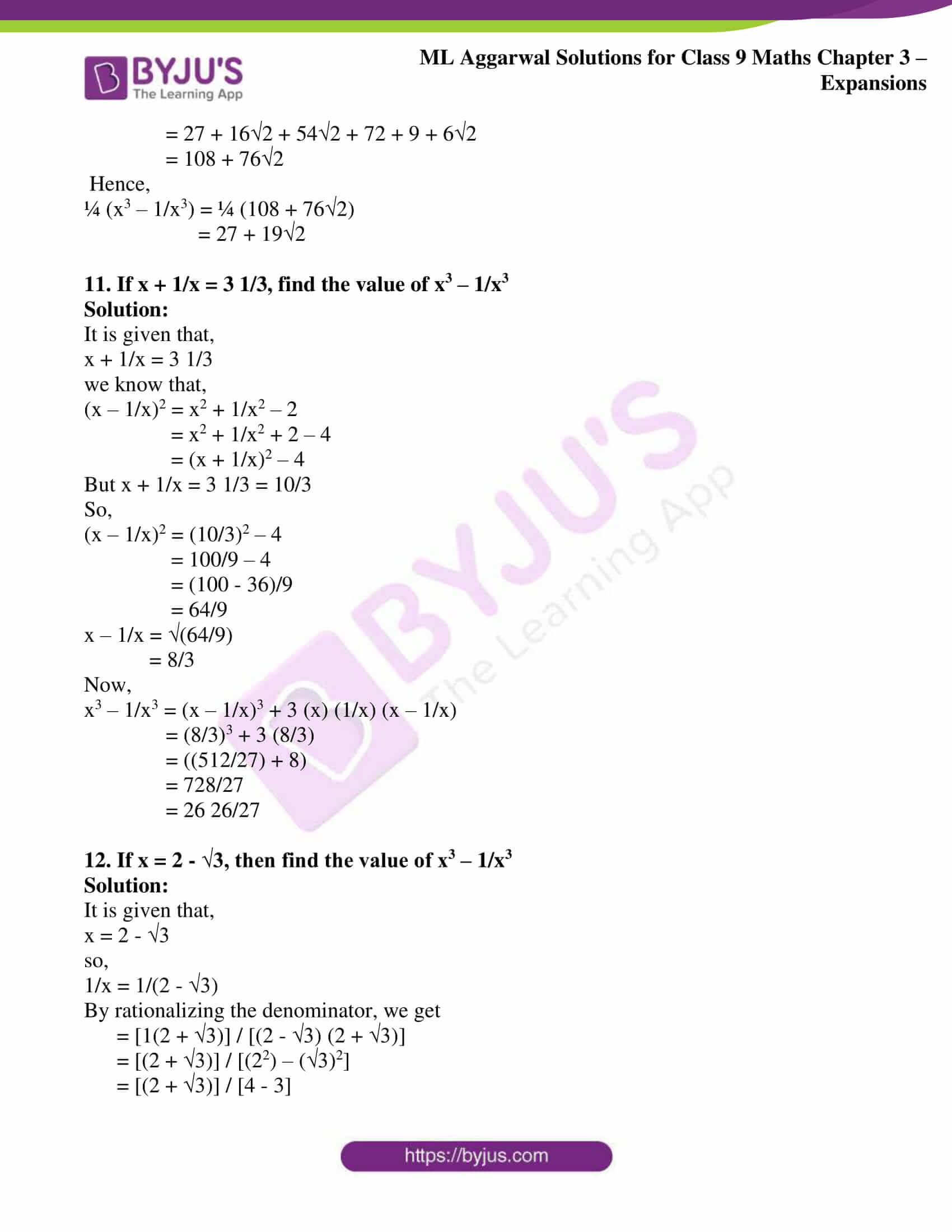 ml aggarwal solutions for class 9 maths chapter 3 43