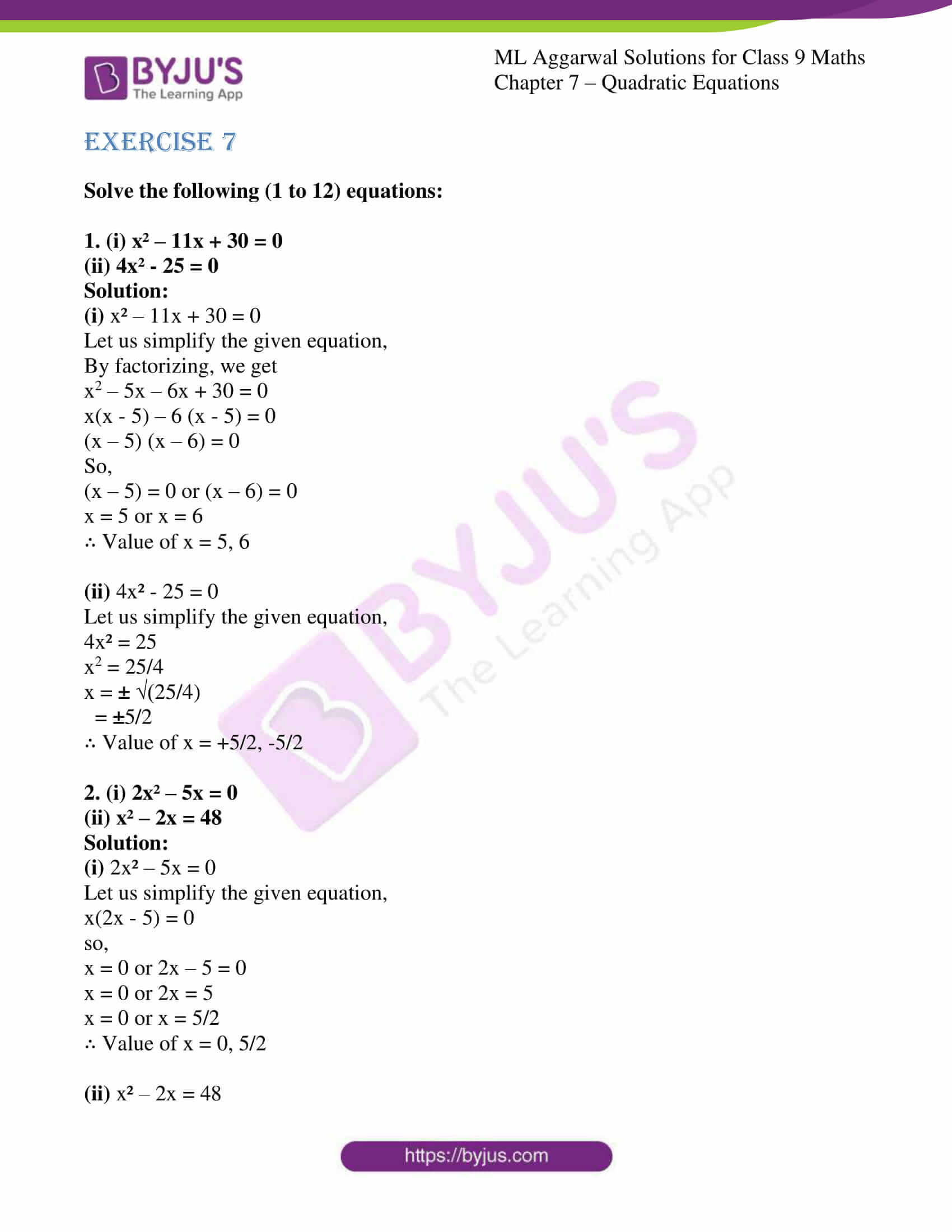 ml aggarwal solutions for class 9 maths chapter 7 01