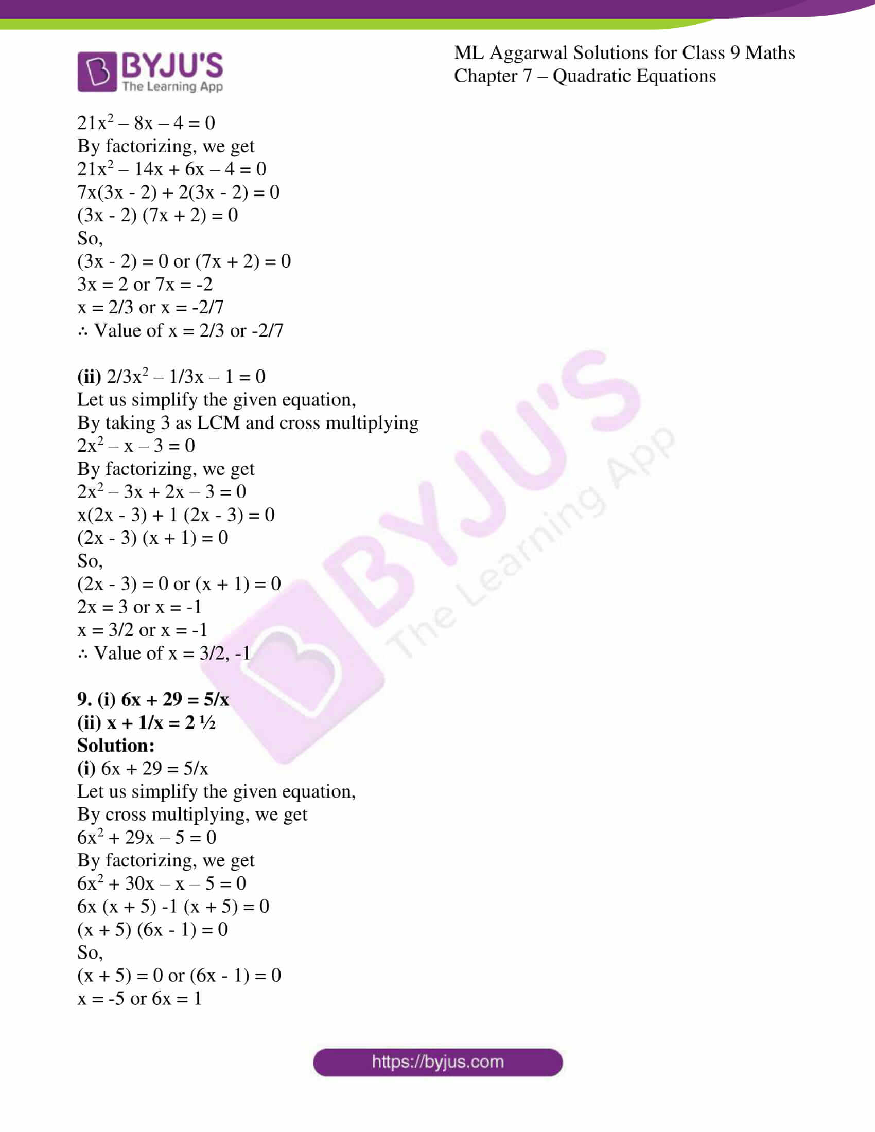 ml aggarwal solutions for class 9 maths chapter 7 06