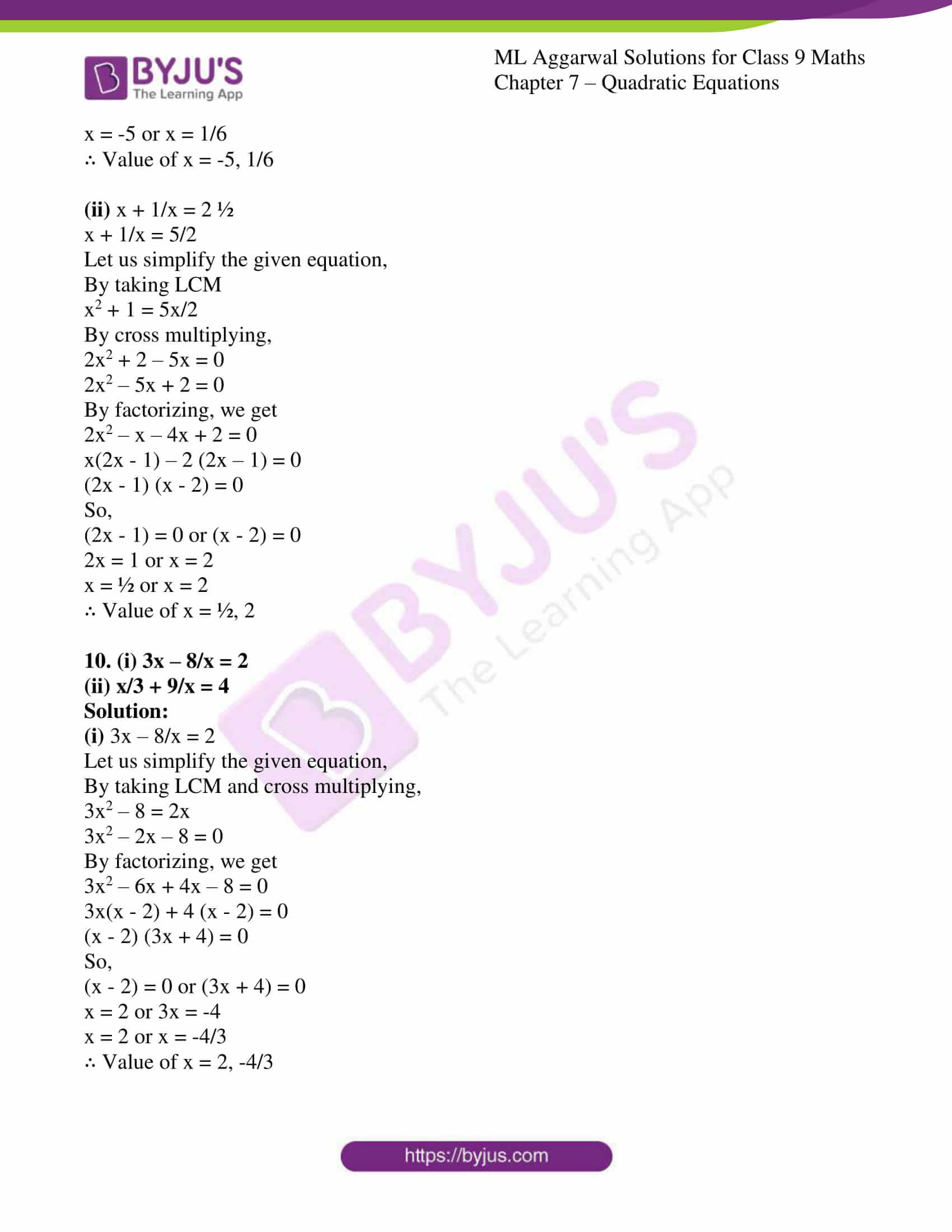 ml aggarwal solutions for class 9 maths chapter 7 07