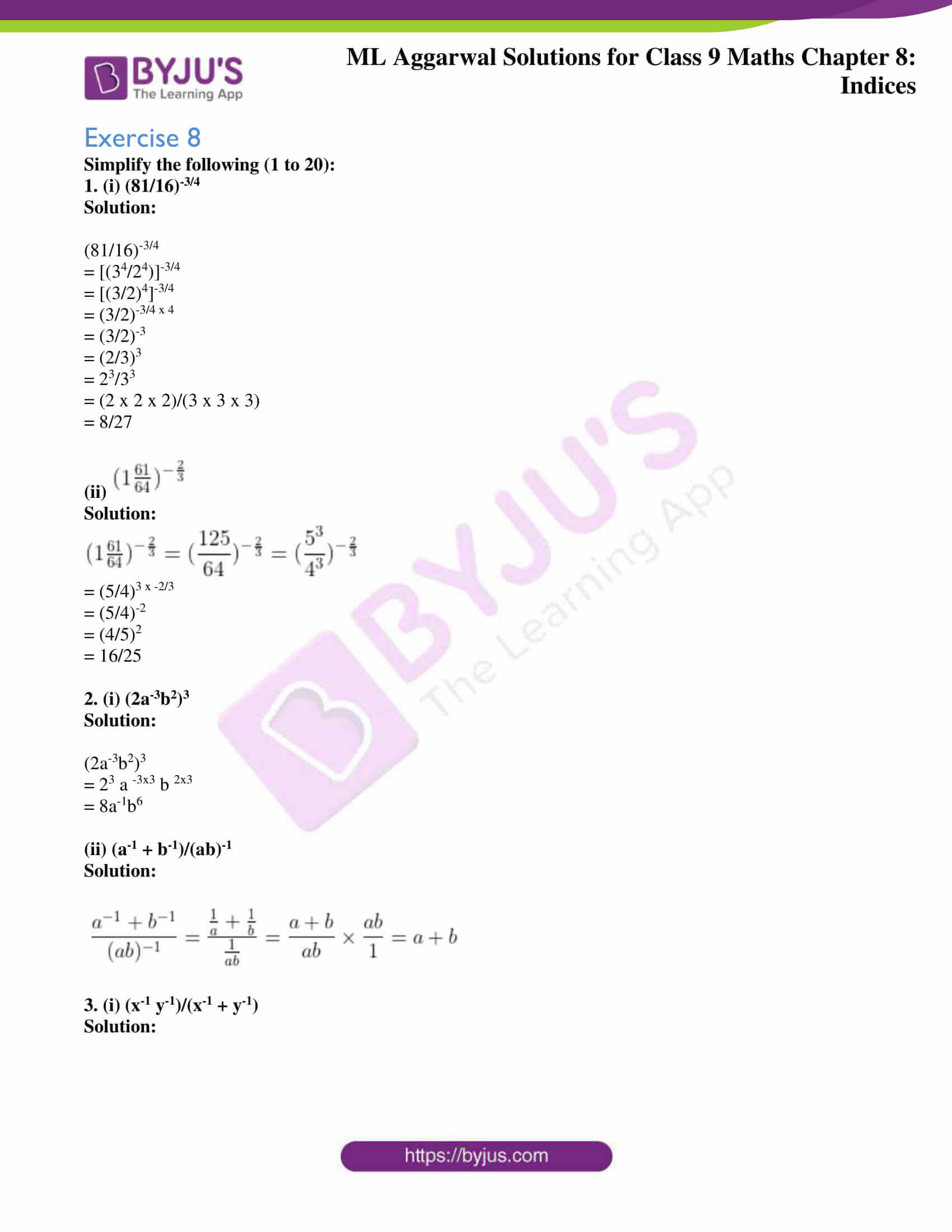 ml aggarwal solutions for class 9 maths chapter 8 01