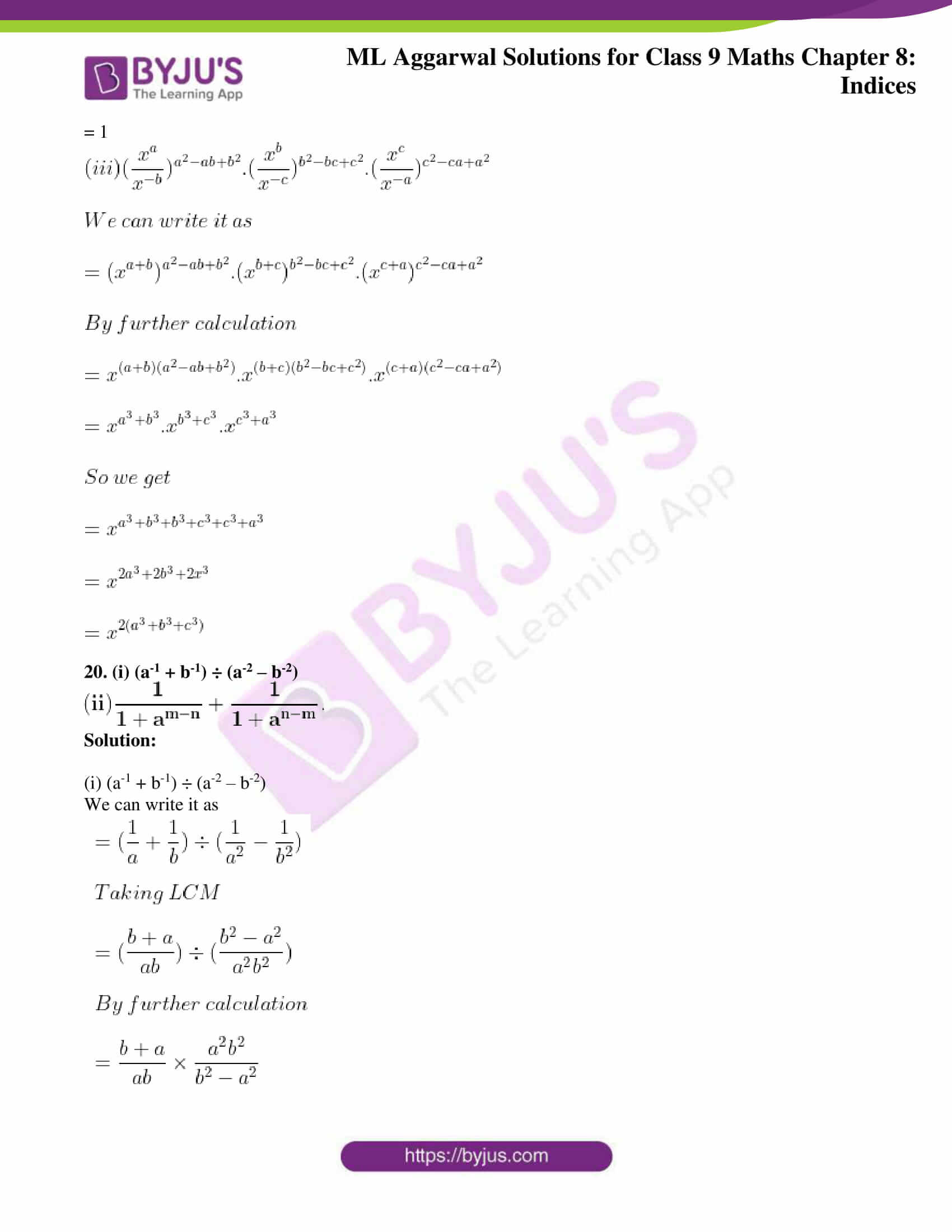 ml aggarwal solutions for class 9 maths chapter 8 22