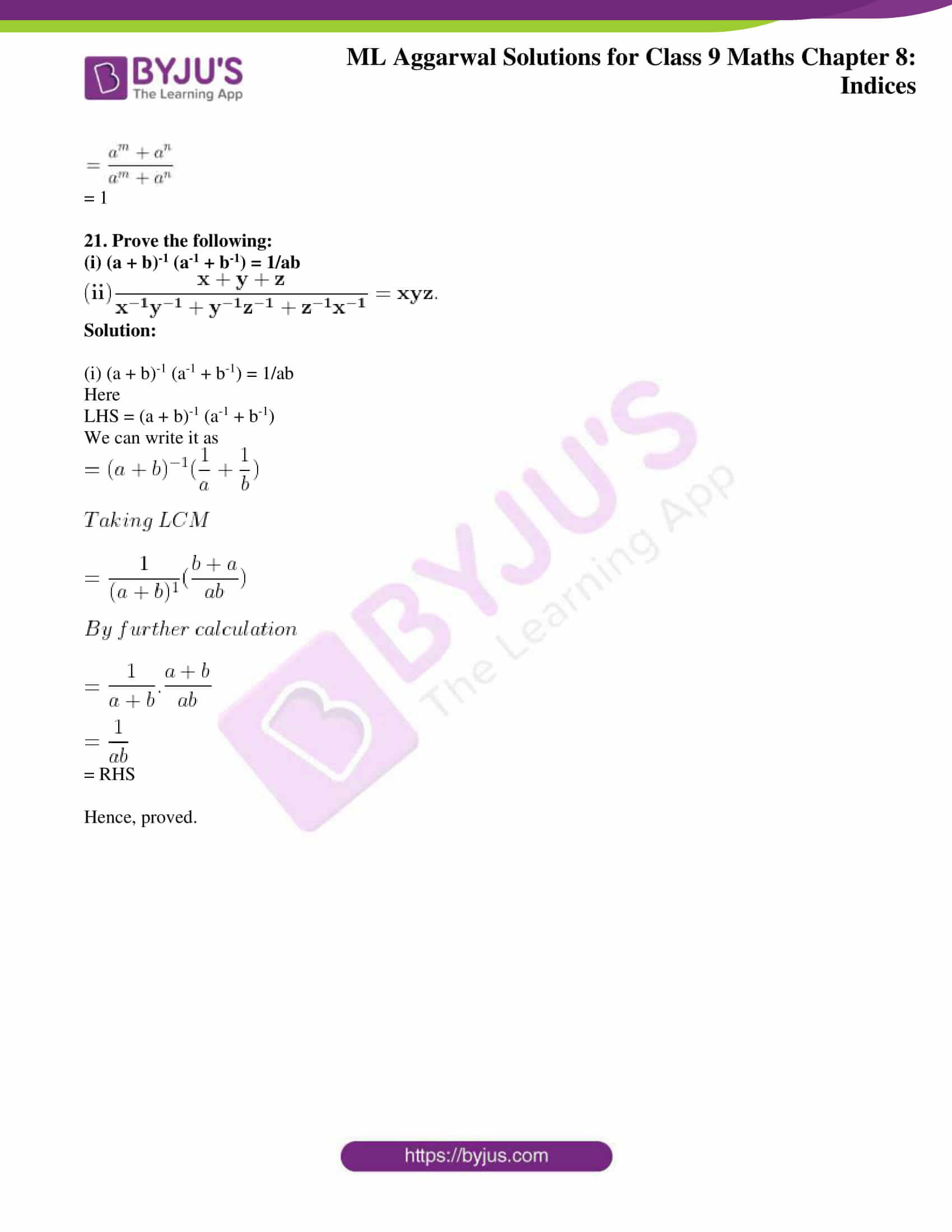 ml aggarwal solutions for class 9 maths chapter 8 24