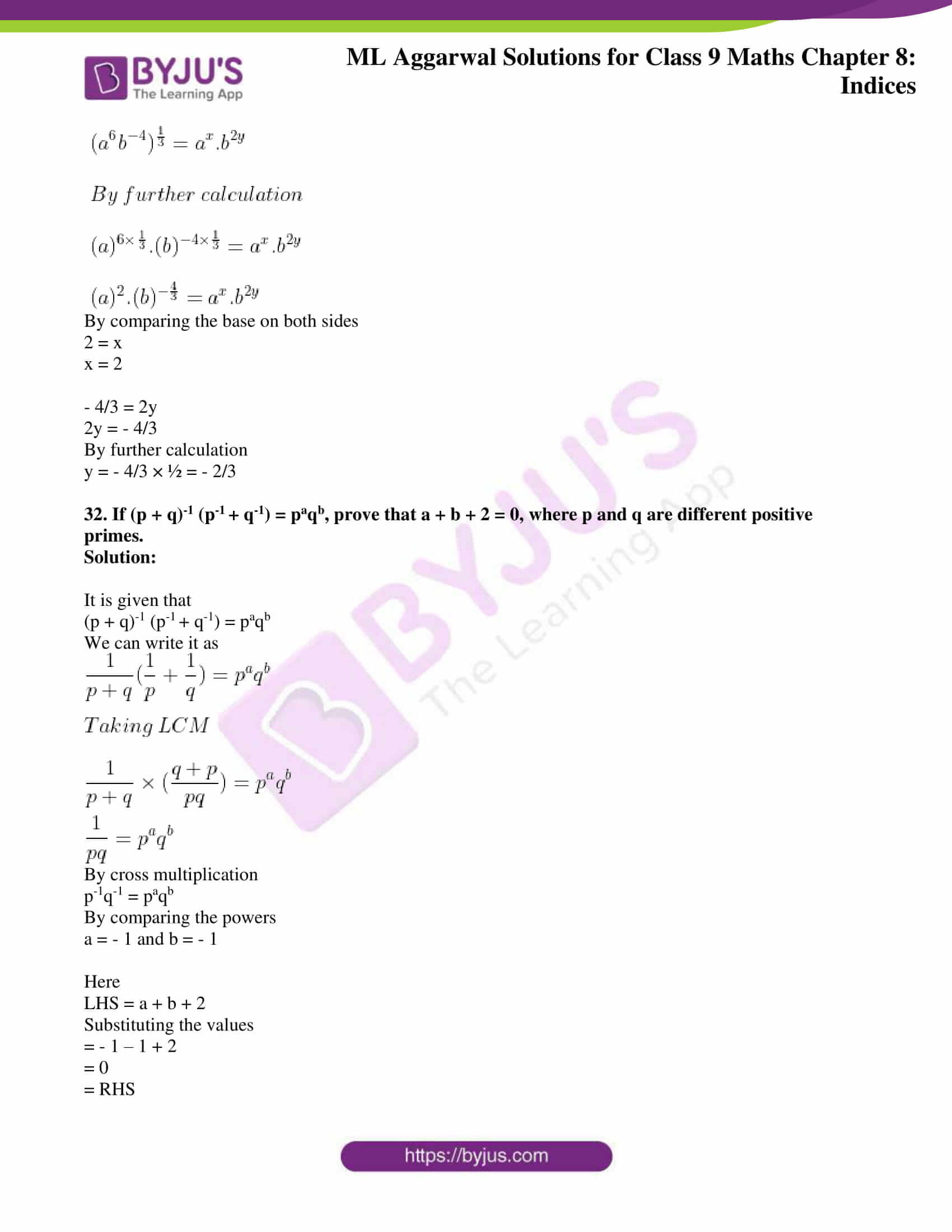 ml aggarwal solutions for class 9 maths chapter 8 33