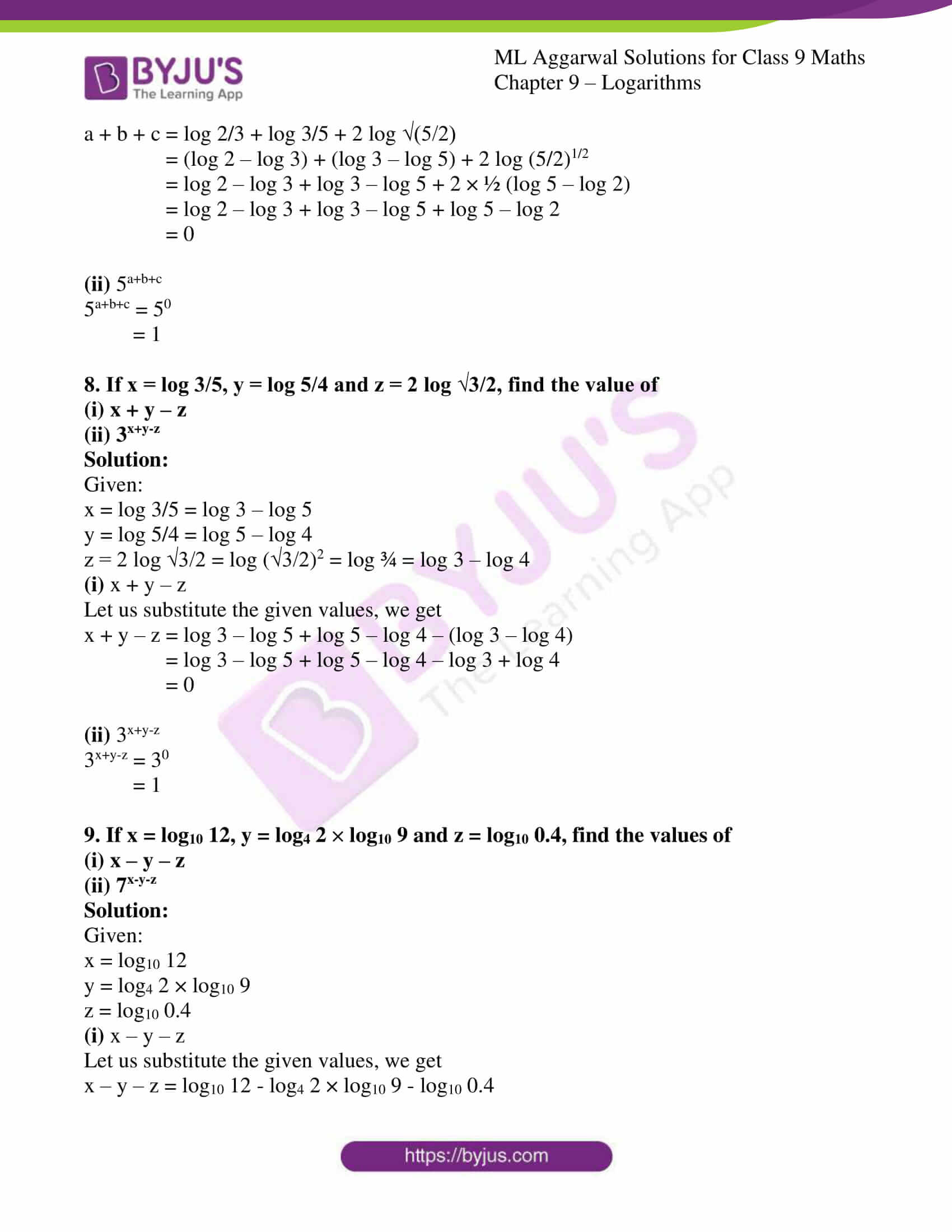 ml aggarwal solutions for class 9 maths chapter 9 20