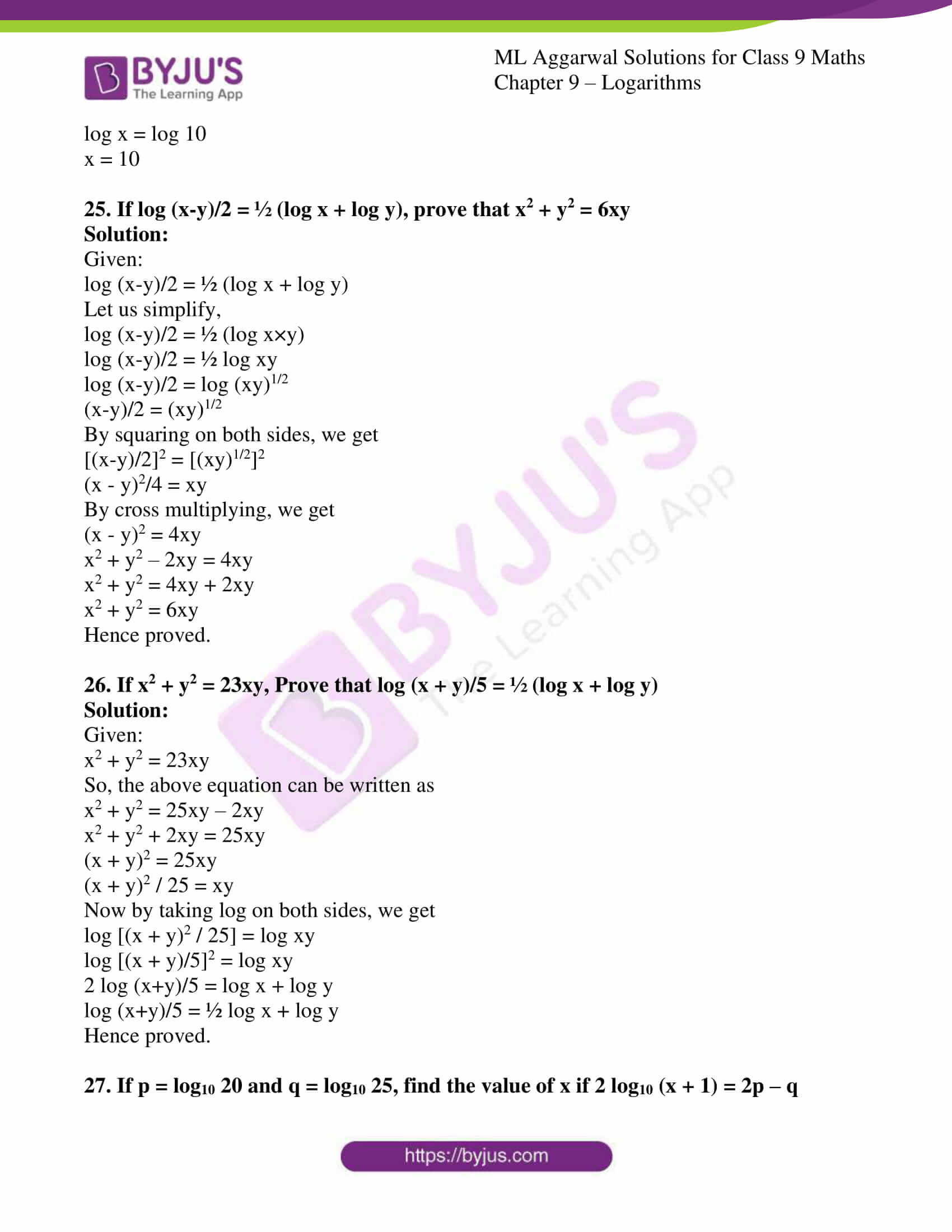 ml aggarwal solutions for class 9 maths chapter 9 30