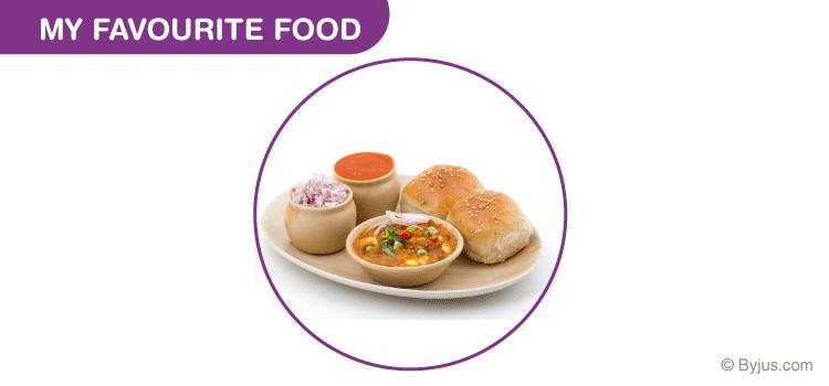 My Favourite Food Pav Bhaji Essay for Class 2