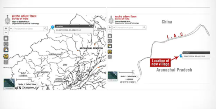 LAC in Arunachal Pradesh border with China