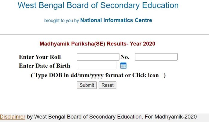 West Bengal Board Madhyamik Pariksha Class 10 Results