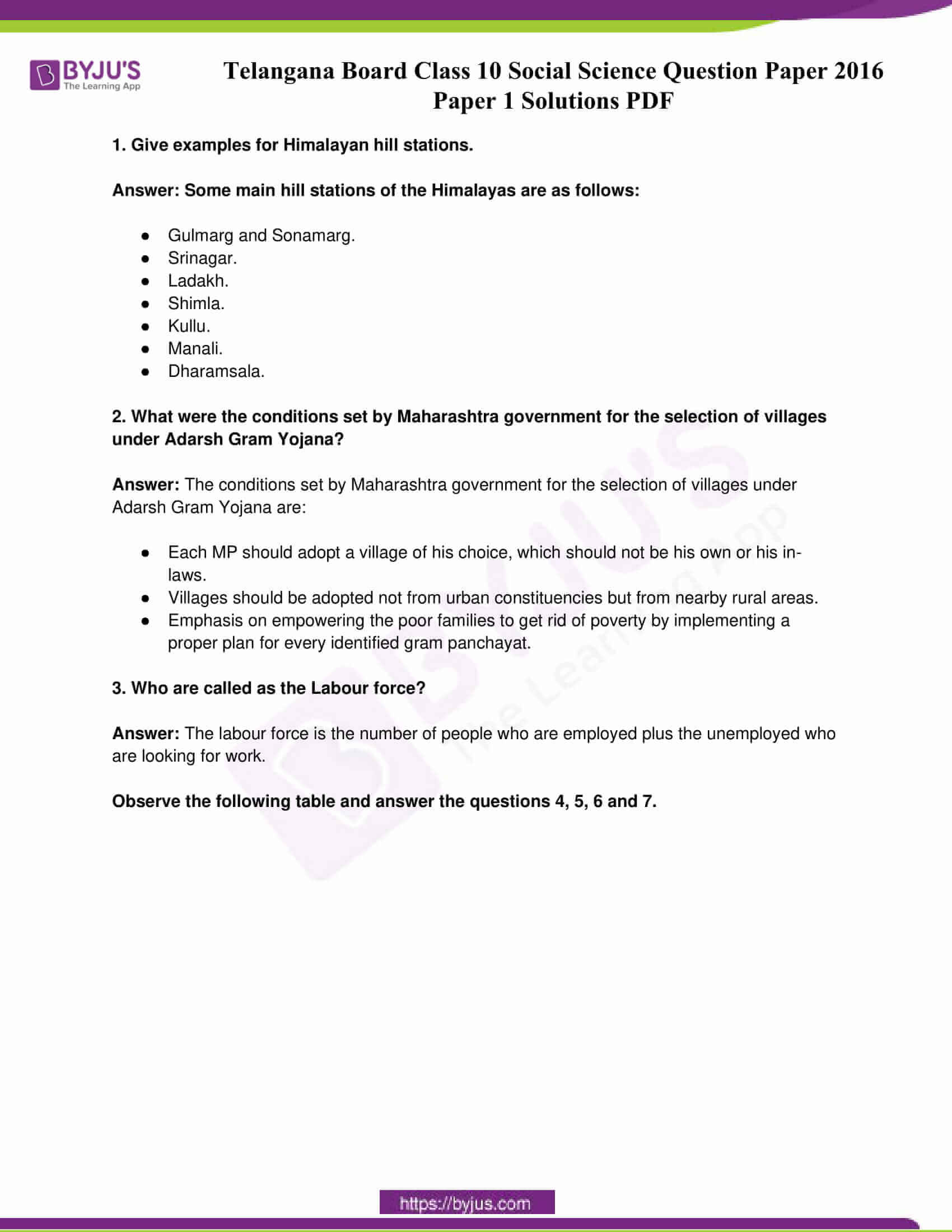 telangana board class 10 social science 2016 paper 1 solutions 1