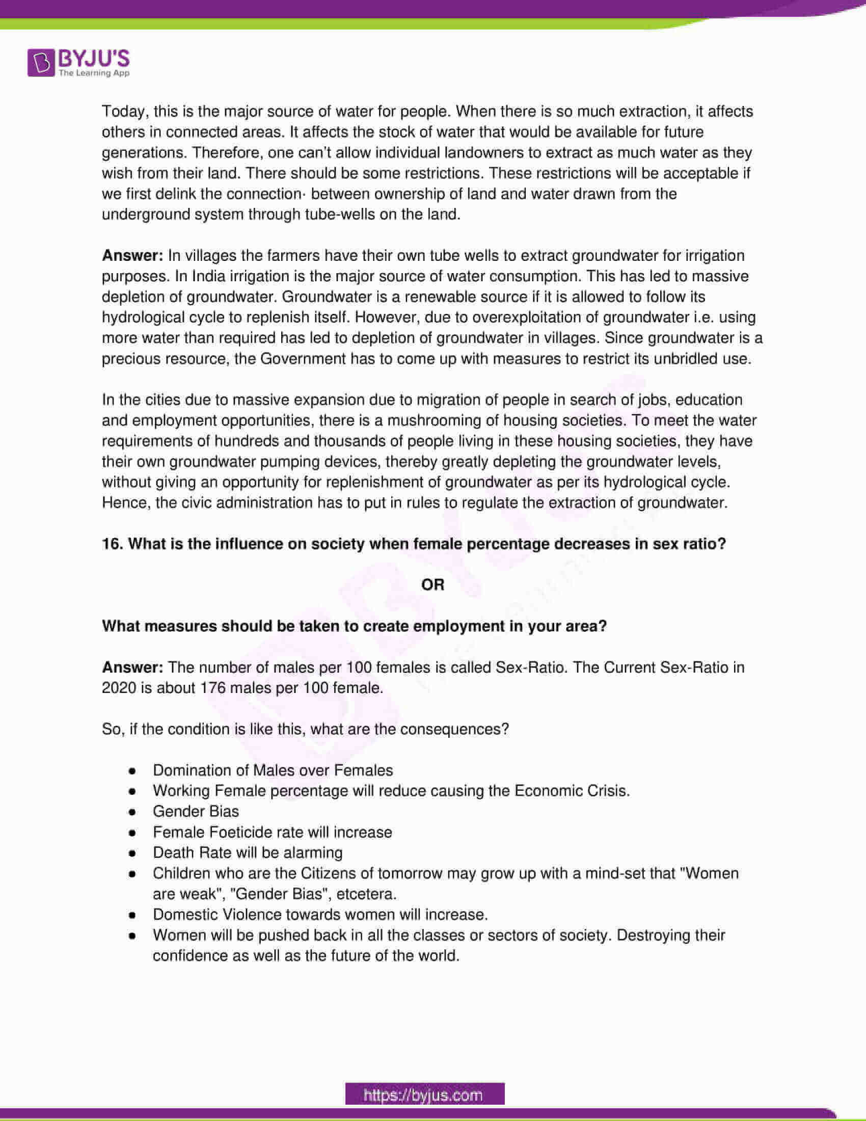 telangana board class 10 social science 2016 paper 1 solutions 6