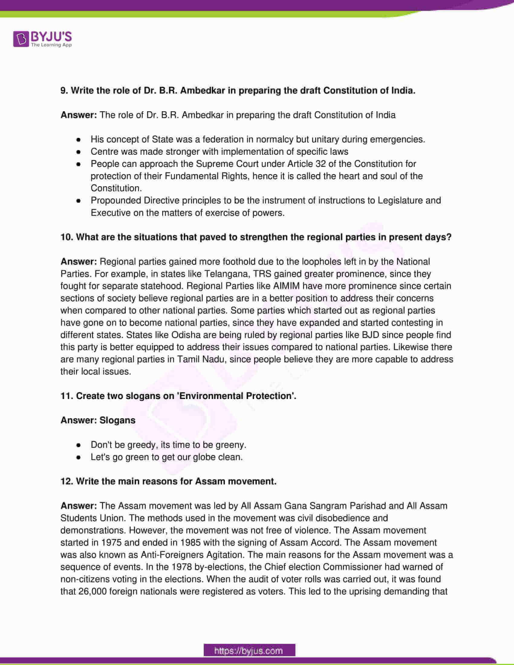 telangana board class 10 social science 2016 paper 2 solutions 3