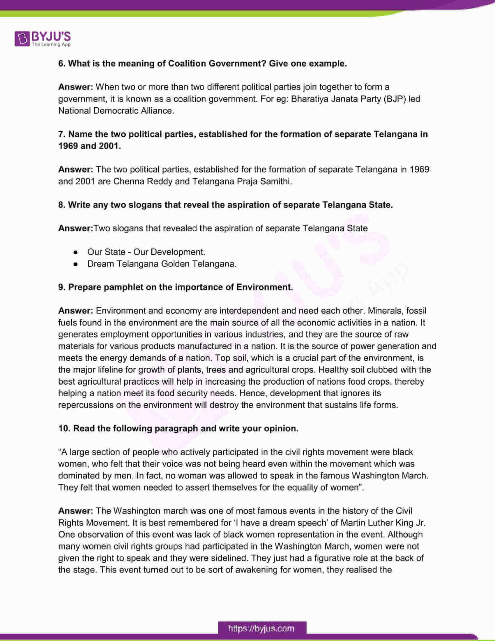 telangana board class 10 social science 2017 paper 2 solutions 2
