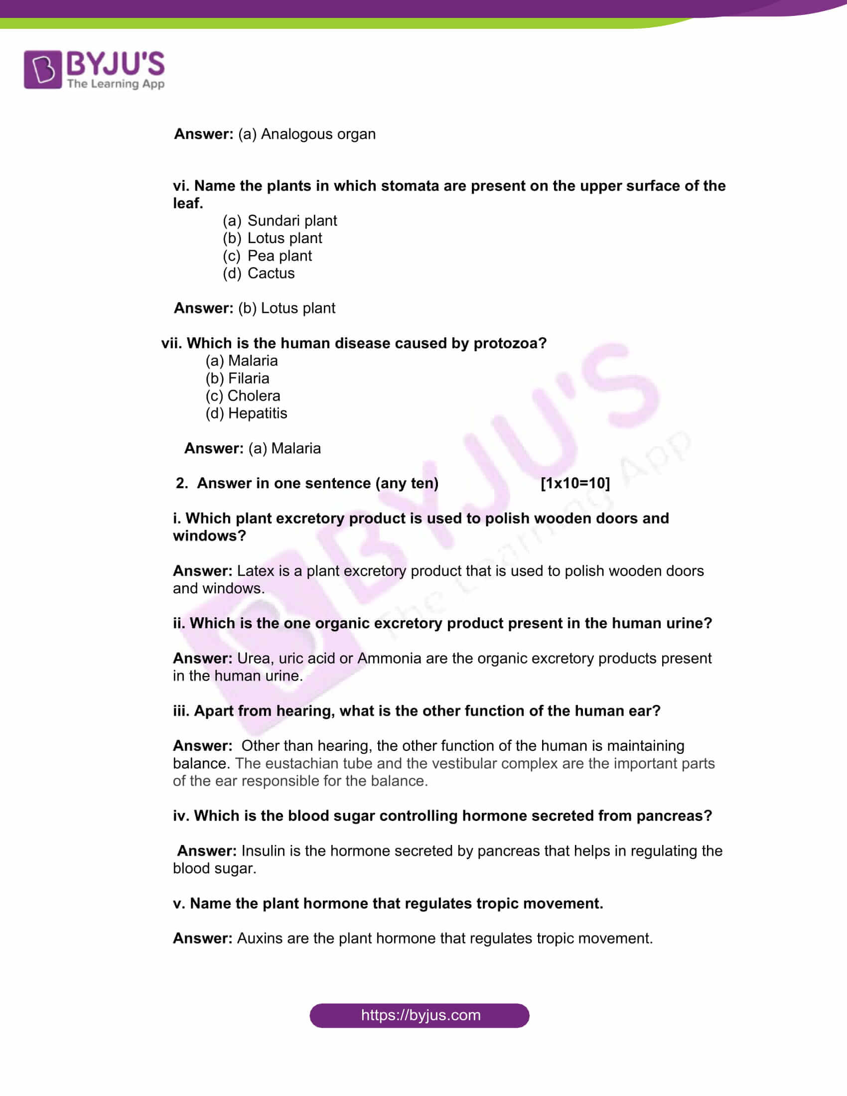 west bengal board class 10 life science 2016 solutions 02