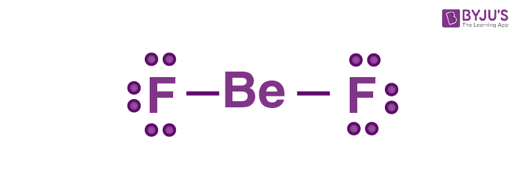Lewis dot structure for BeF2 molecule