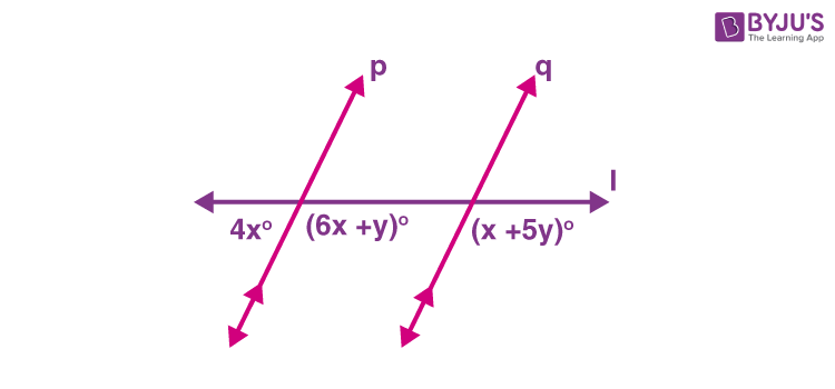 Parallel lines example 1