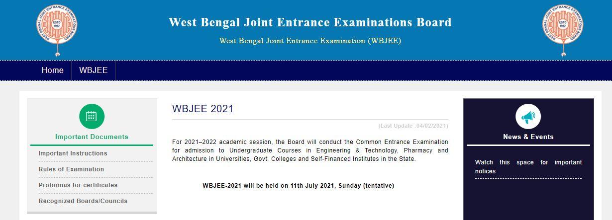 WBJEE-2021 Notification