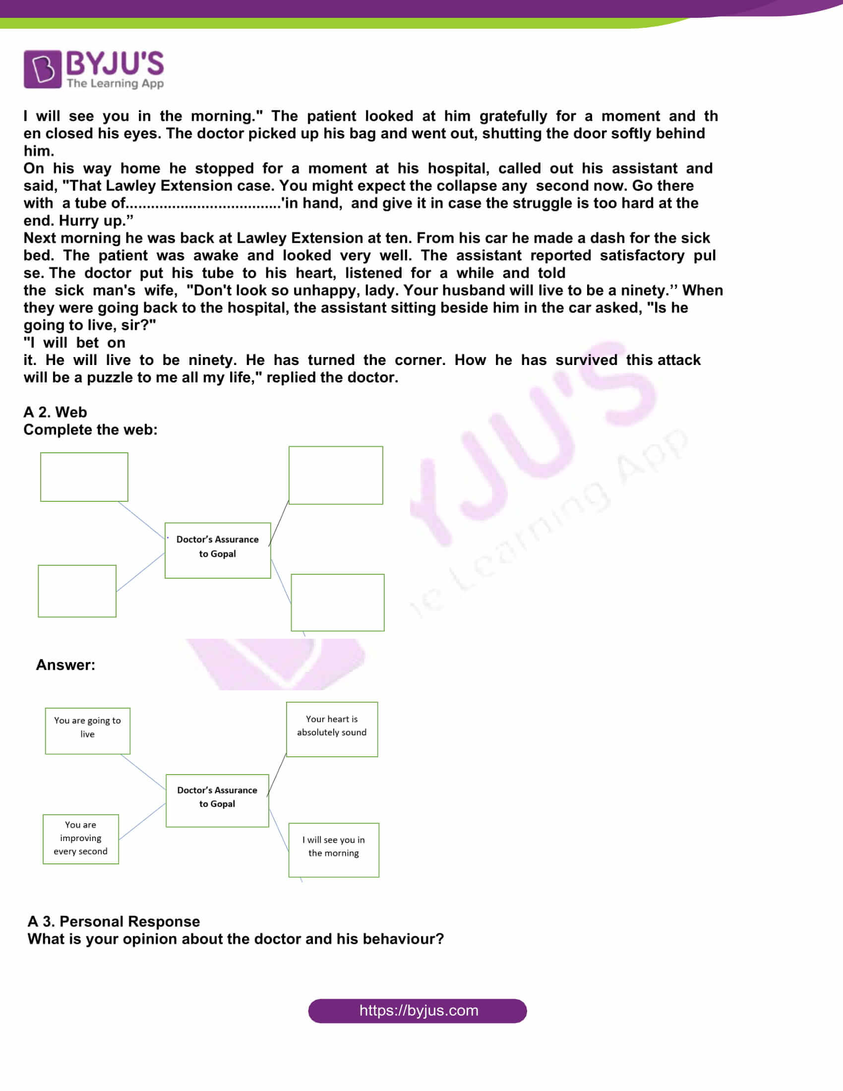 msbshse class 10 english question paper solutions 2015 12