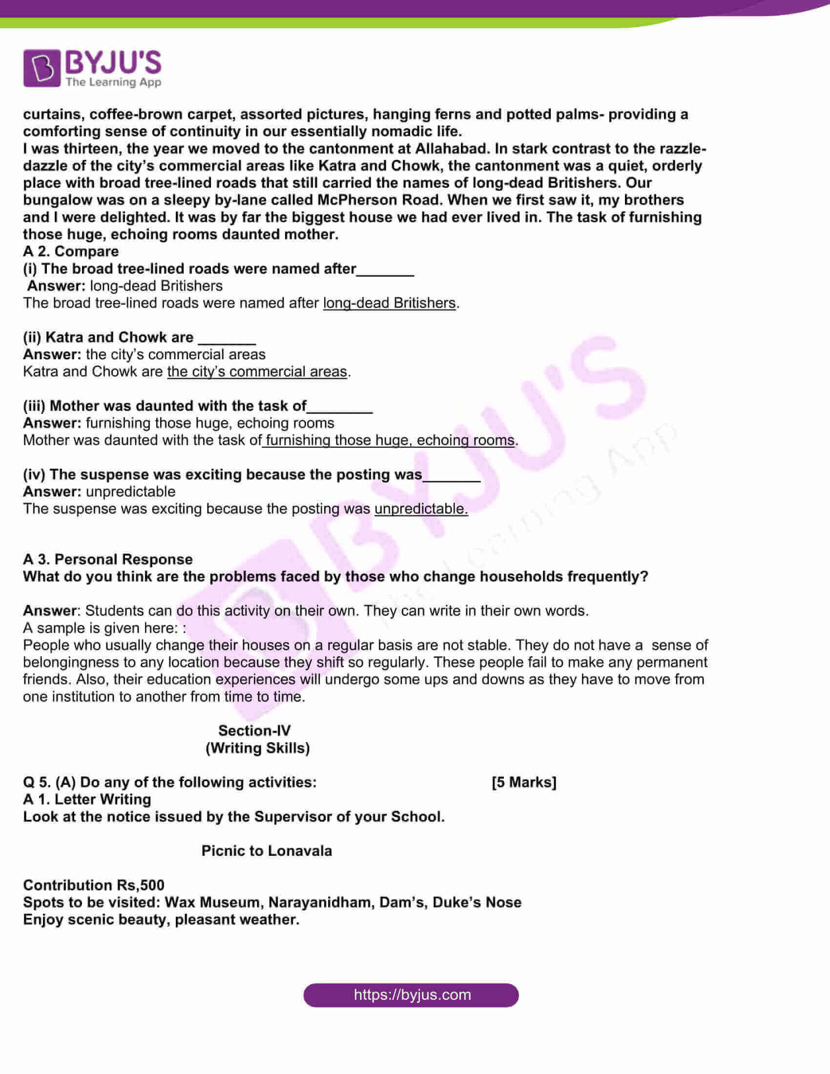 msbshse class 10 english question paper solutions 2016 13