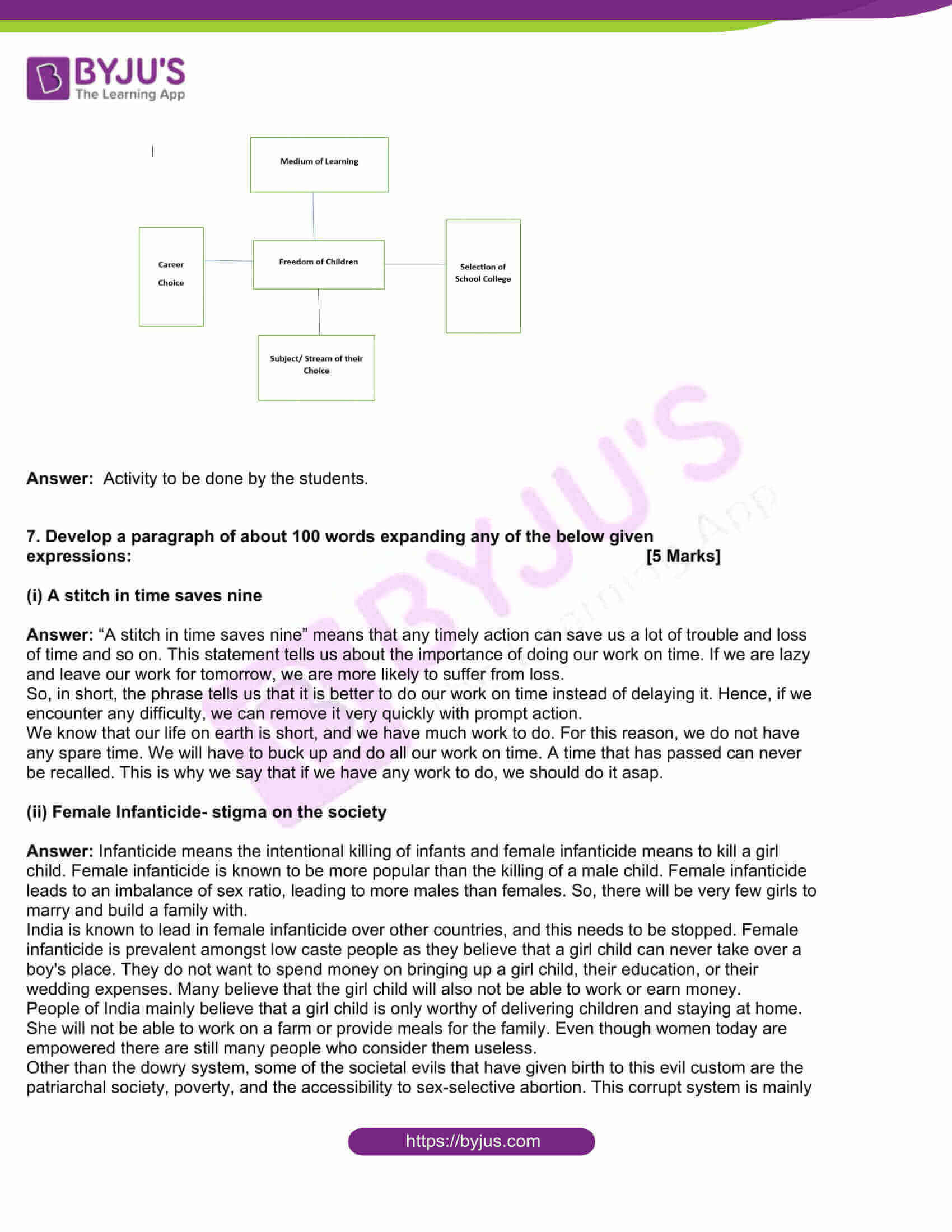 msbshse class 10 english question paper solutions 2018 18